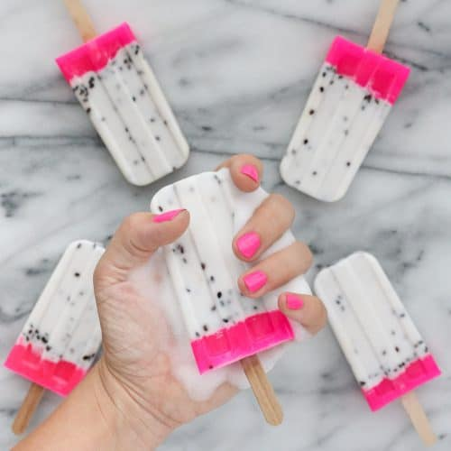 DIY Dragon Fruit Soap Popsicles