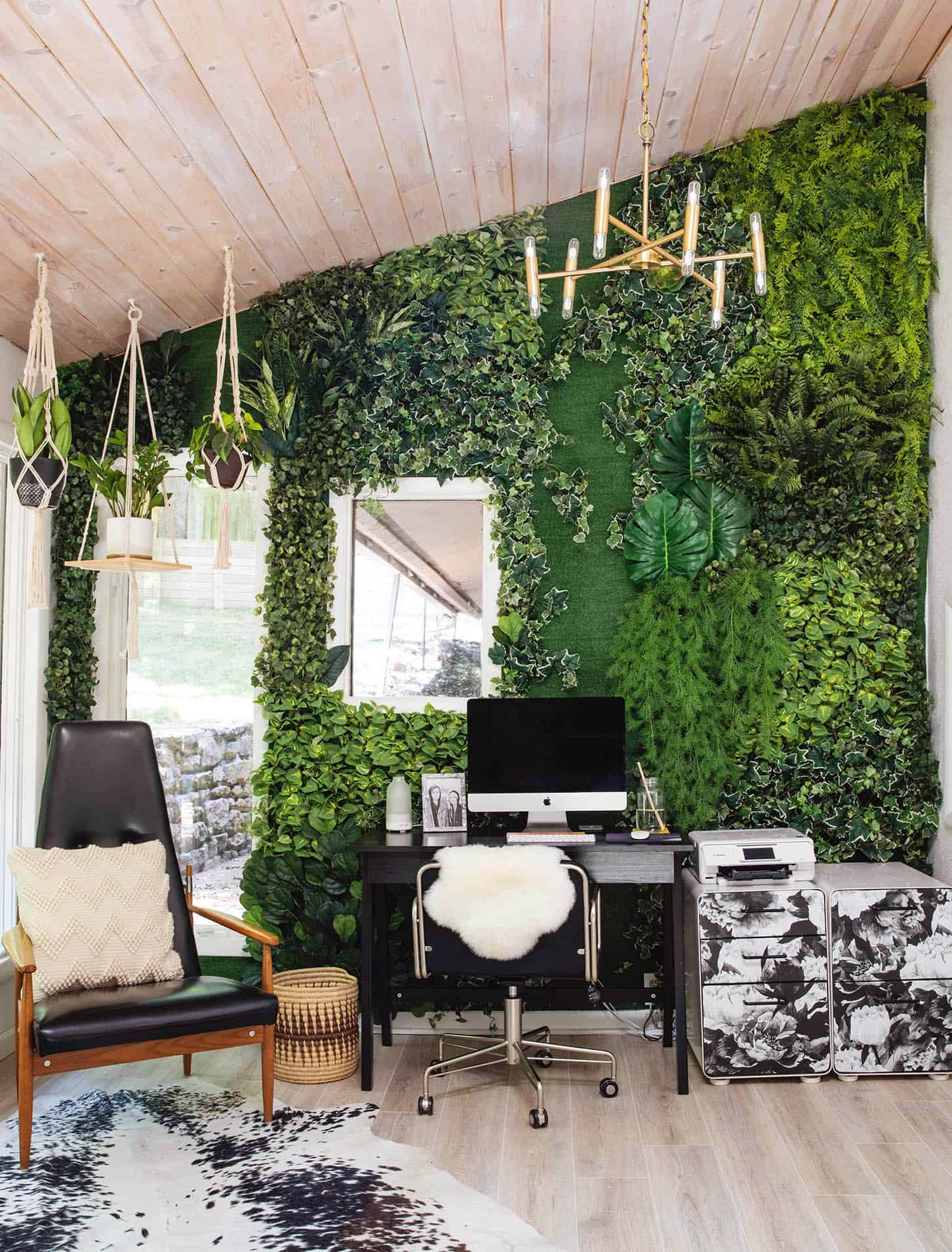 DIY Faux Living Wall