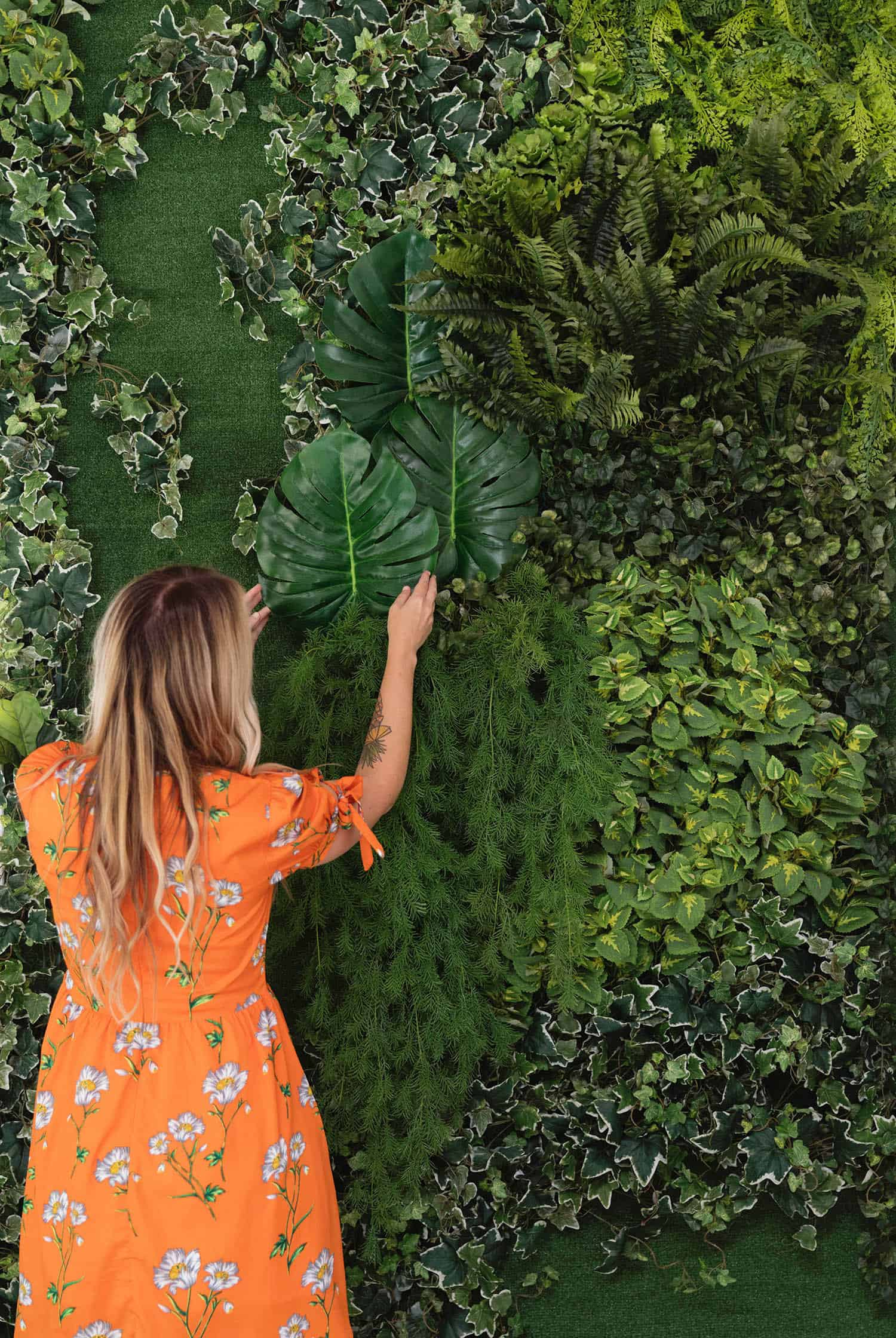 Diy faux living wall d i y project diy home decor