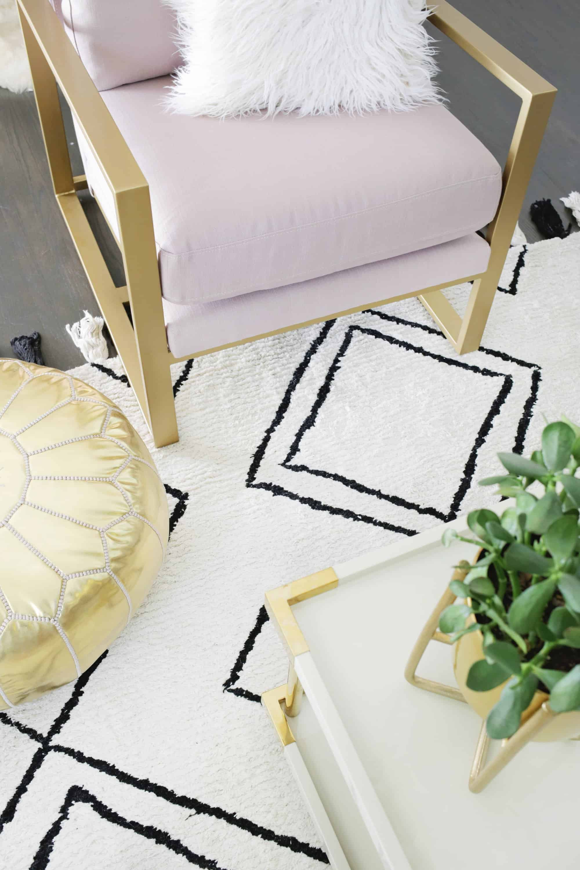 I Ended Up Choosing This Amazingly Pretty Rivet Pink And Gold Armchair It S Perfect For Our E Love That You Can Find Private Label Brands On