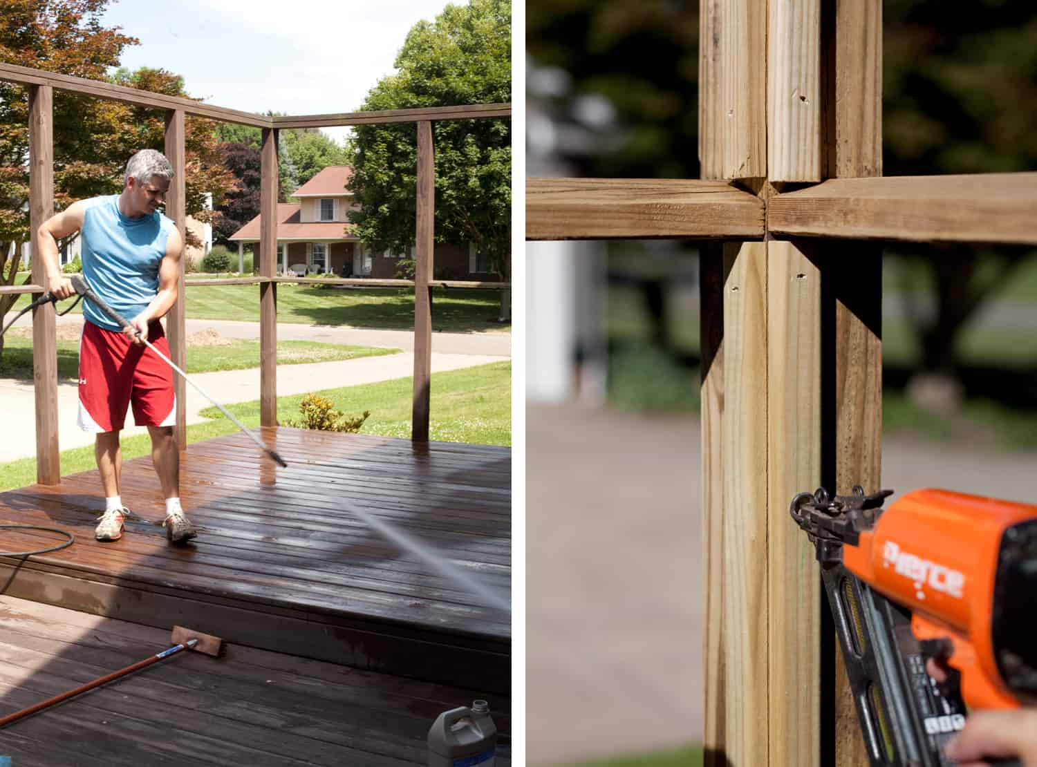 how to build a slat wood privacy fence