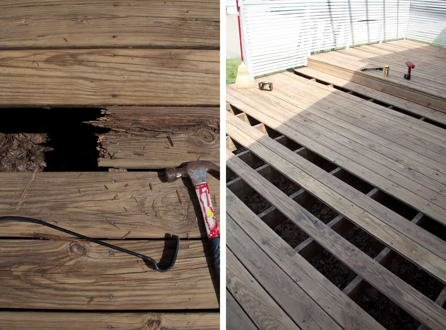 refinishing a wood deck