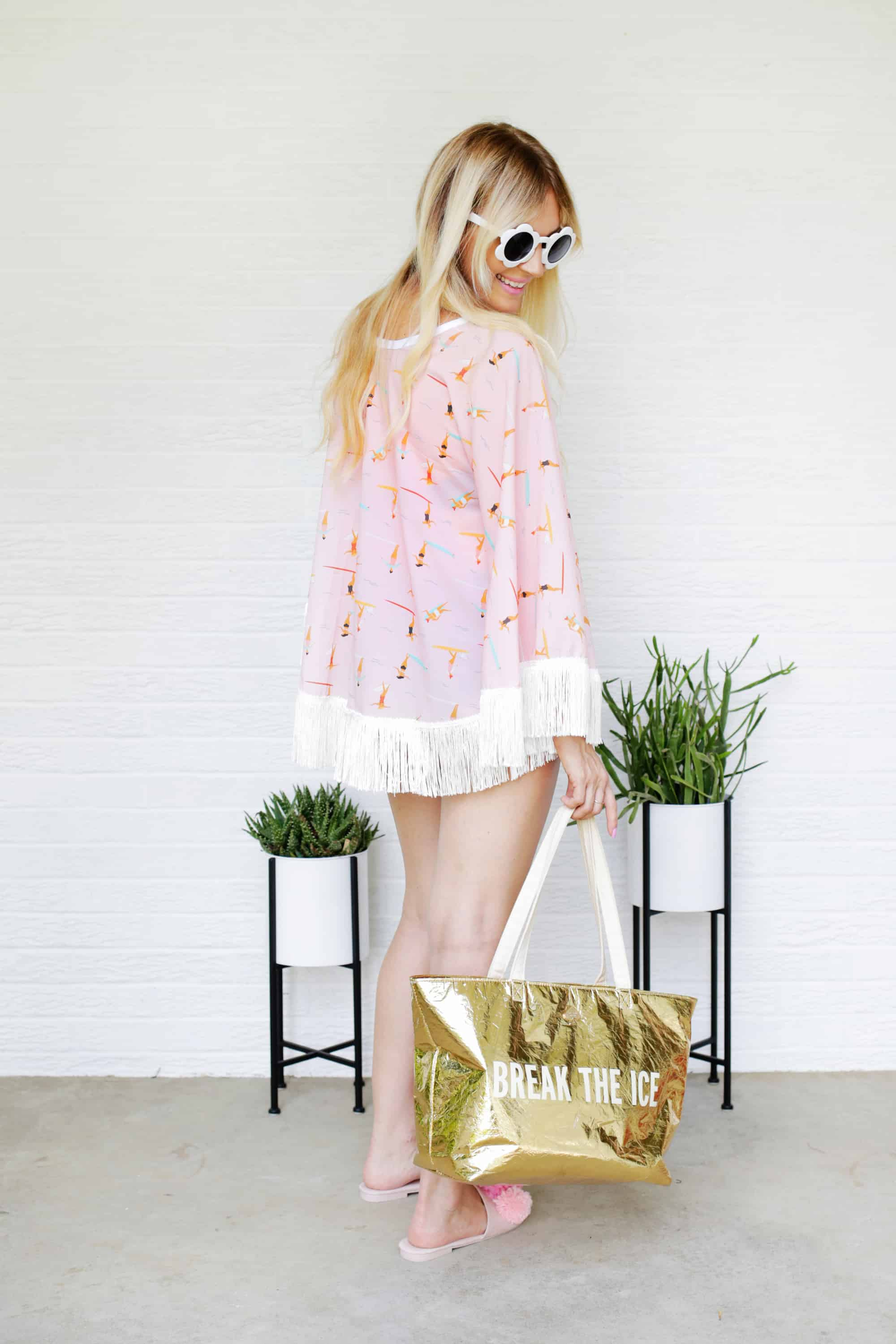 e38c52f60a Such a darling swimsuit cover-up DIY! And I think it goes perfectly with our  flower sunnies and a cute cooler bag