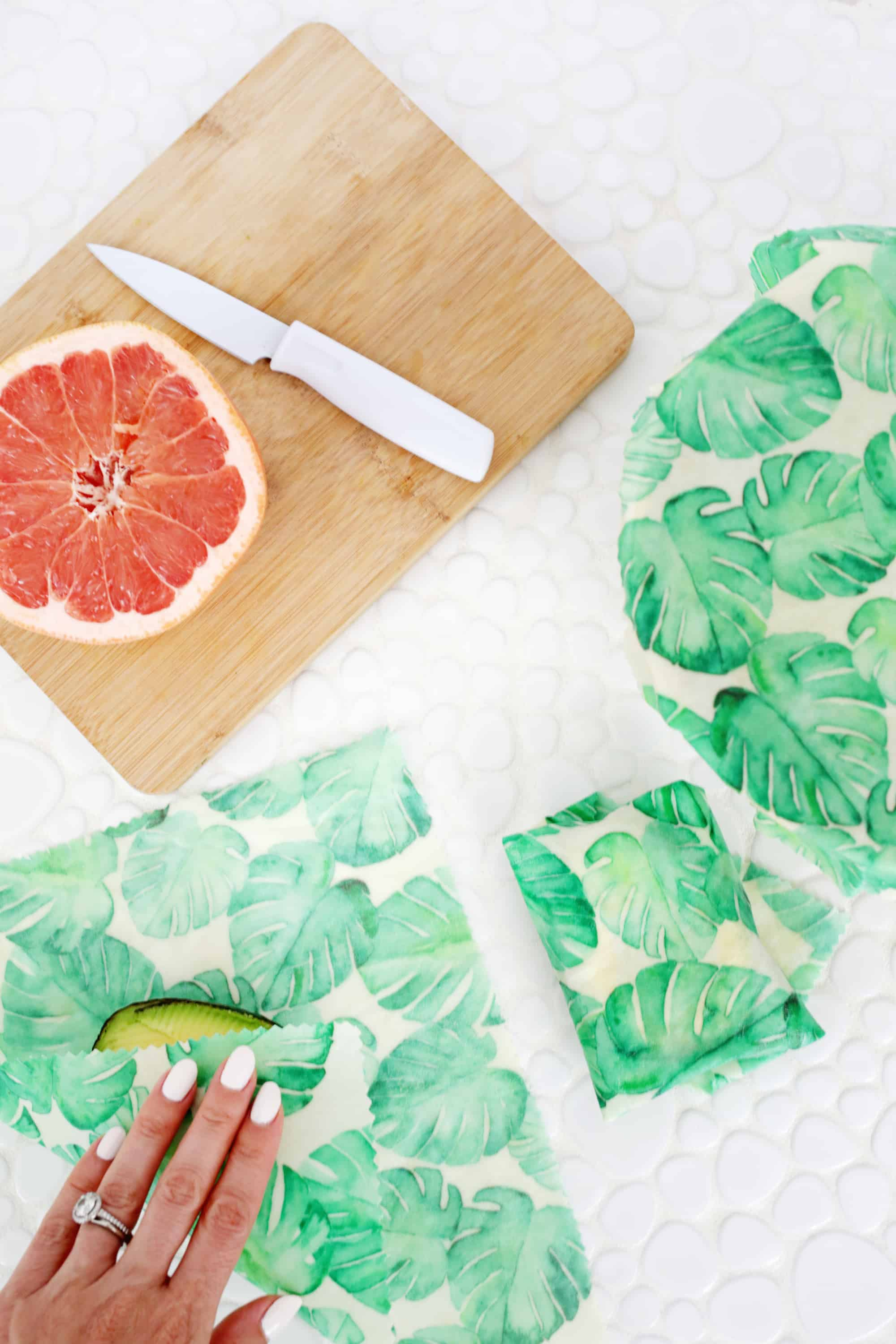 Make you own reusable beeswax food wraps on staging.abeautifulmess.com!