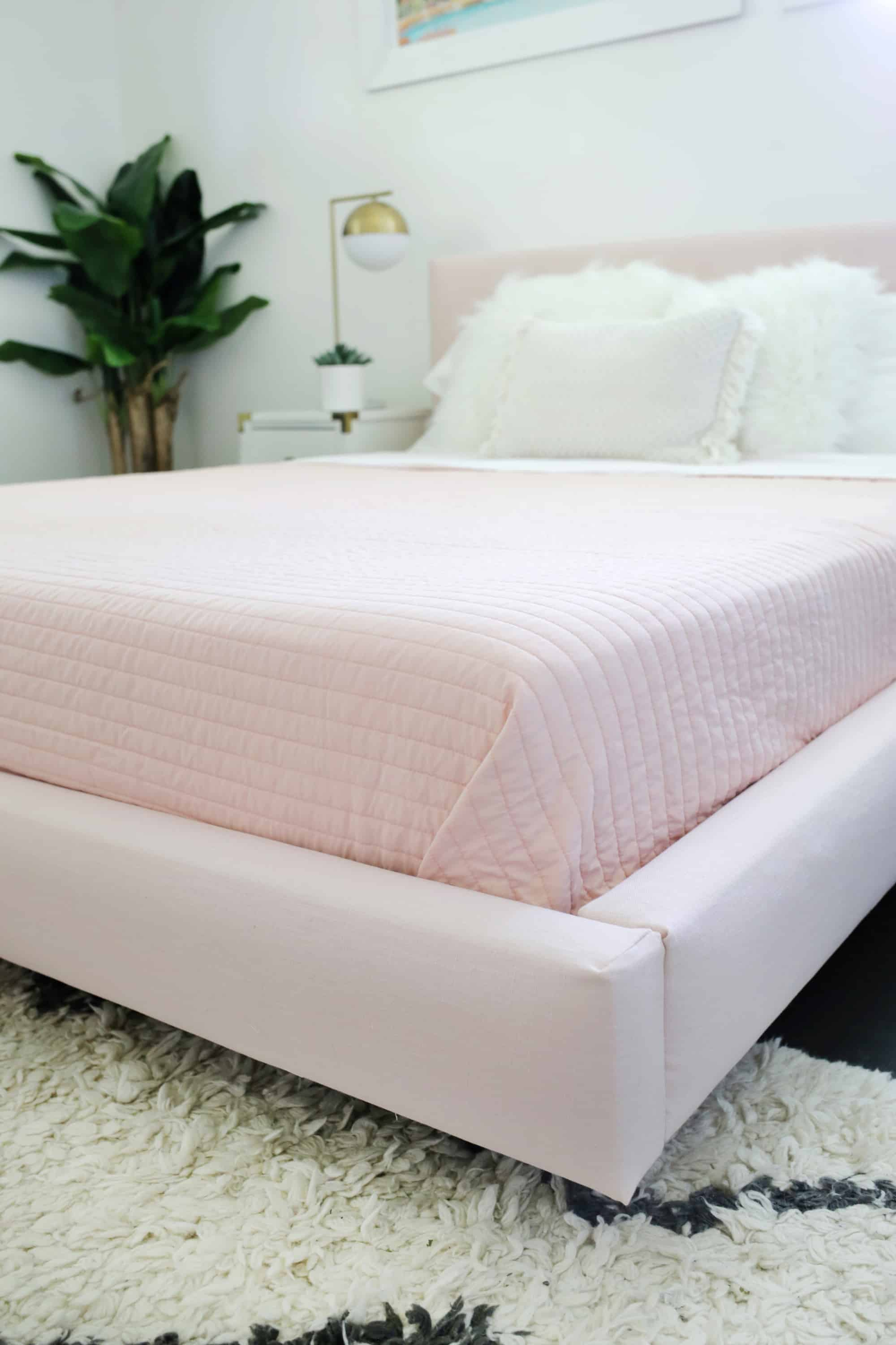 sports shoes 034e9 fb58b Reupholster Your Bed Frame in One Afternoon (with a no-sew ...