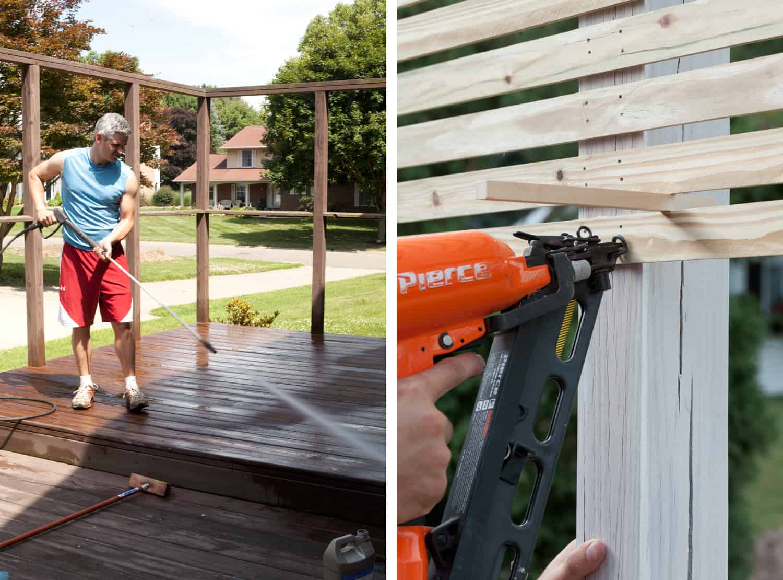 building a slat wood fence