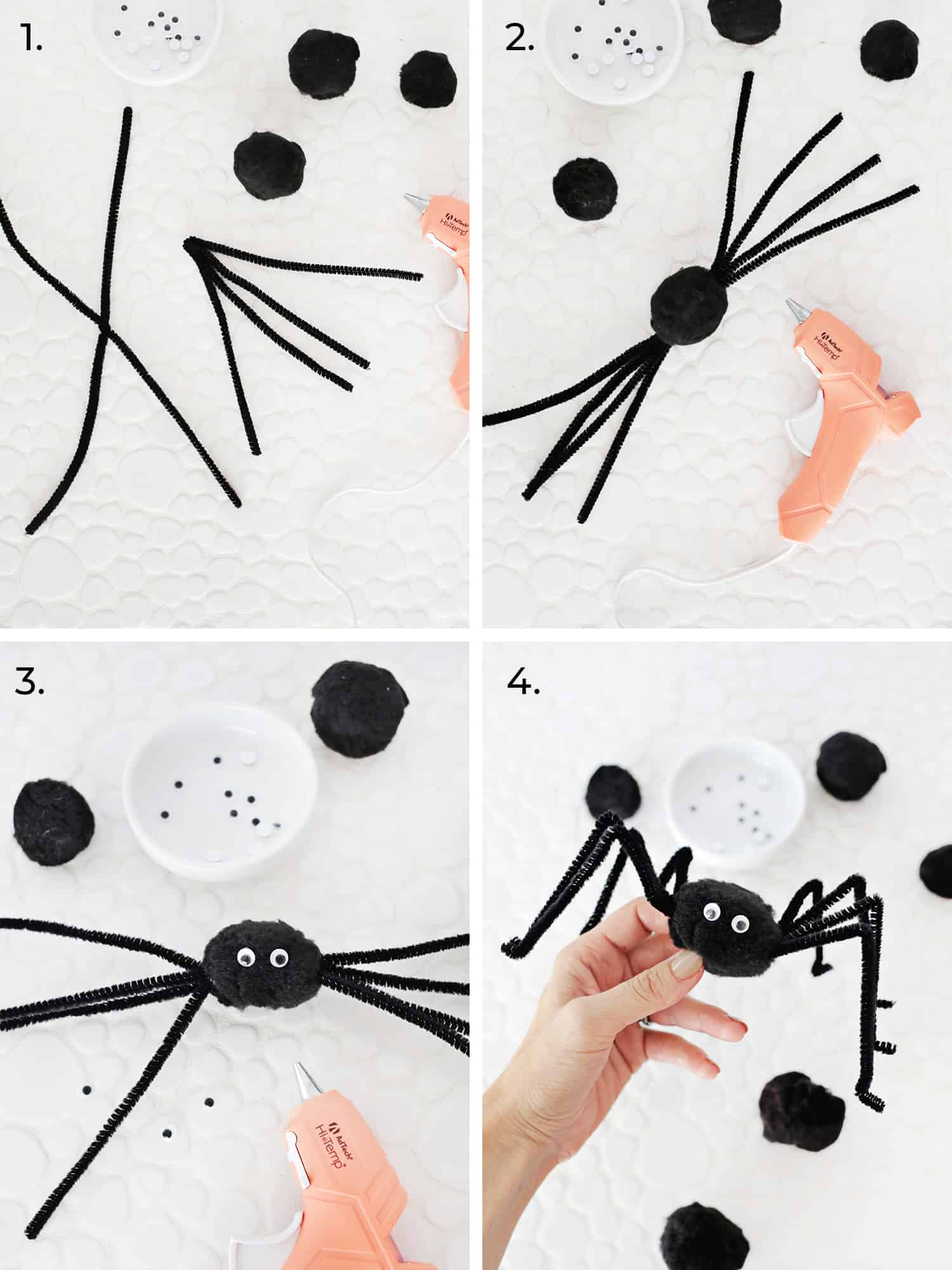 Make these cute spiders on www.abeautifulmess.com