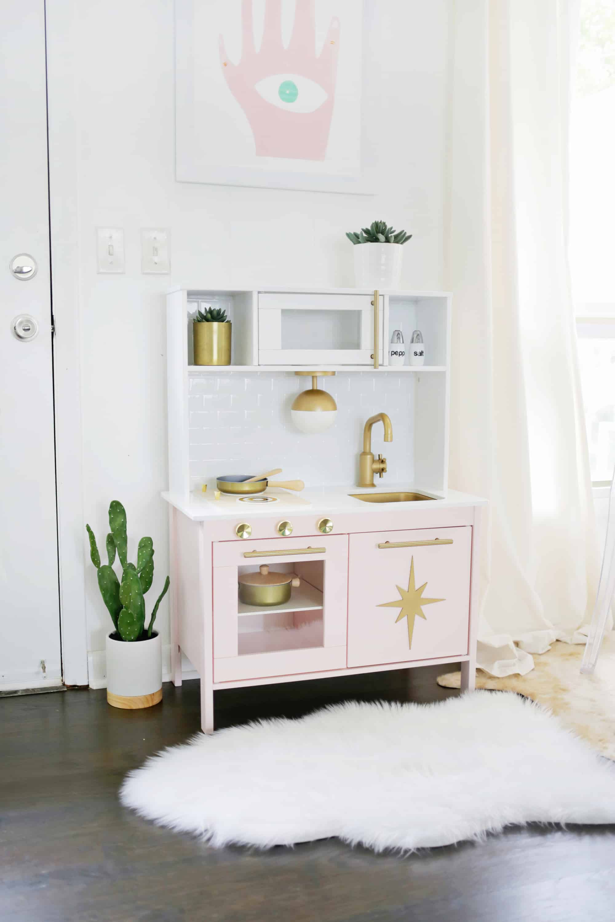 Mid-Century Modern Ikea Play Kitchen Hack! - A Beautiful Mess