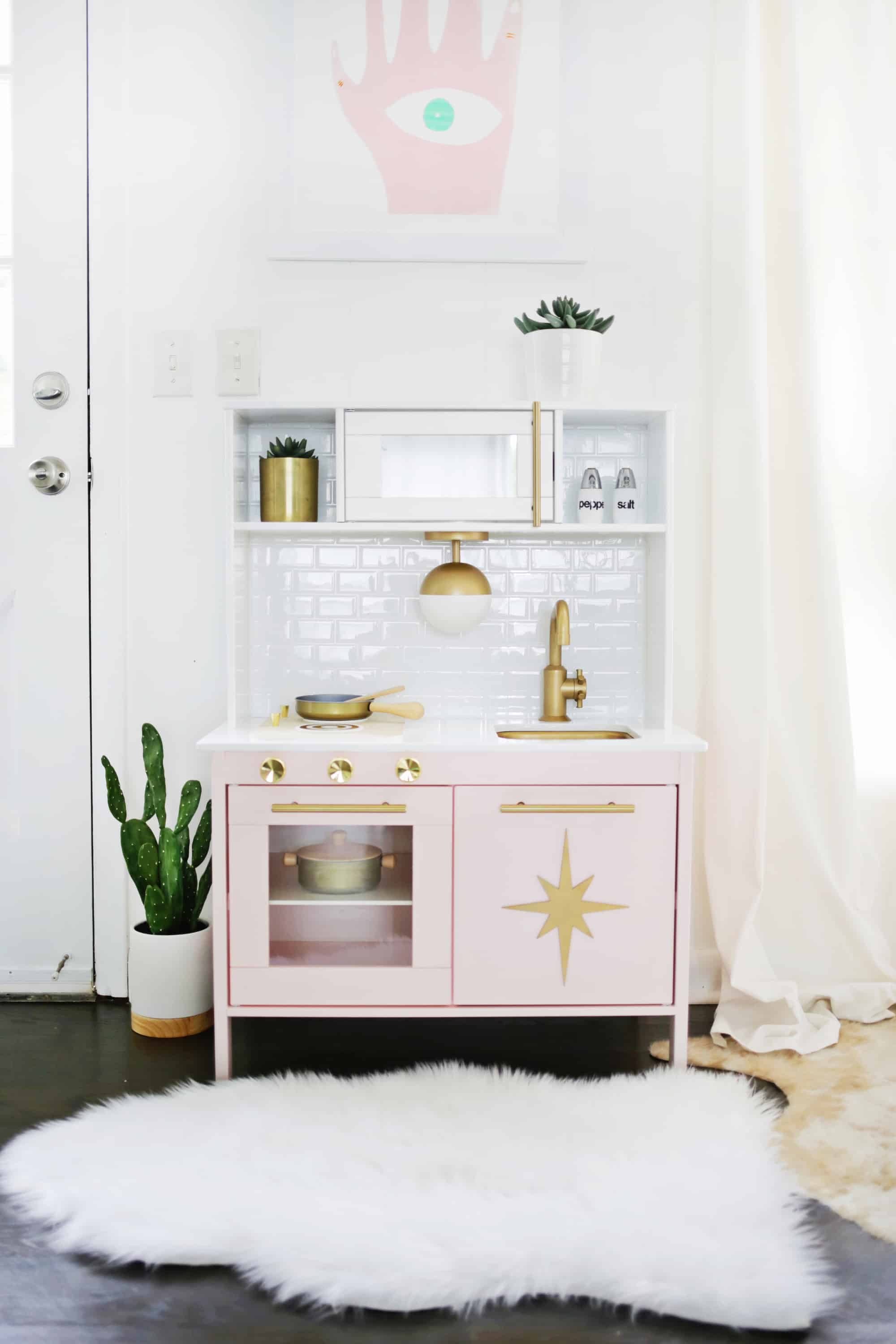 Mid Century Modern Ikea Play Kitchen Hack A Beautiful Mess