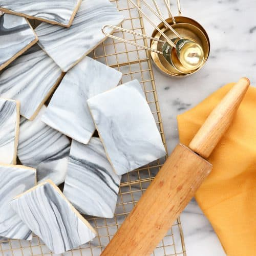DIY Marble Tile Cookies