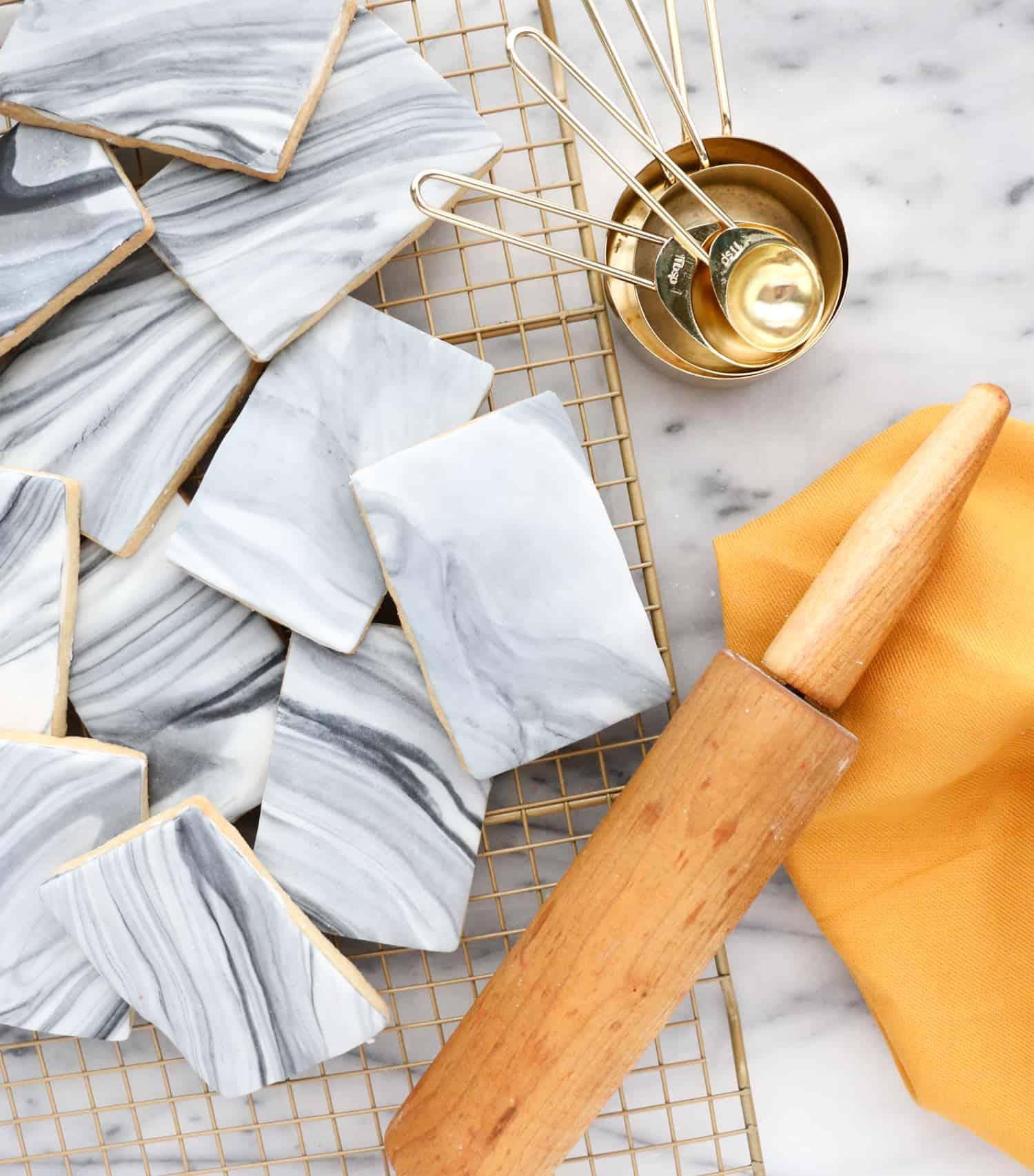 DIY Marble Tile Cookies