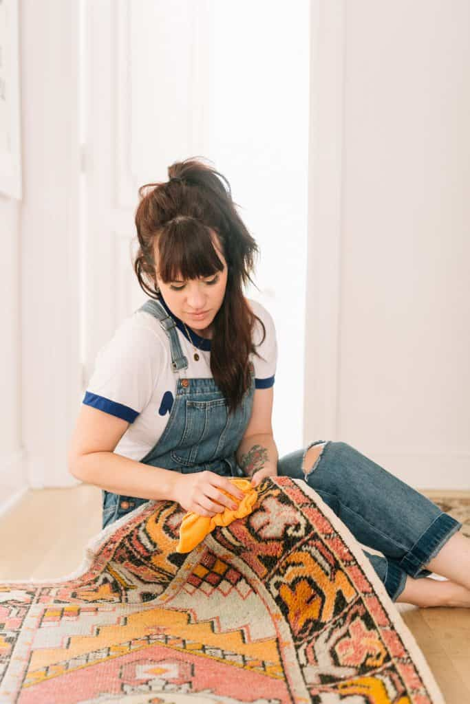 How I Clean My Vintage Rugs Leather Sofas A Beautiful Mess