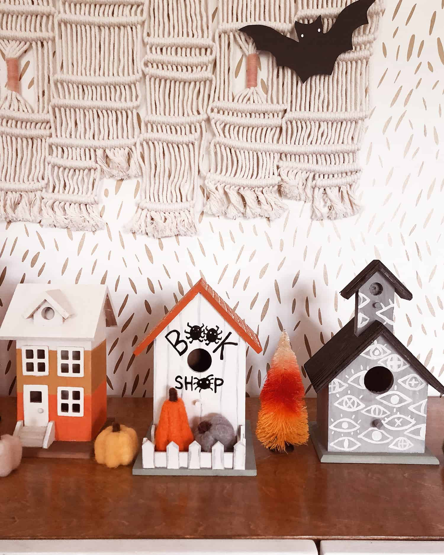 Christmas Birdhouses Crafts.Mommy Me Craft Make A Halloween Village A Beautiful Mess