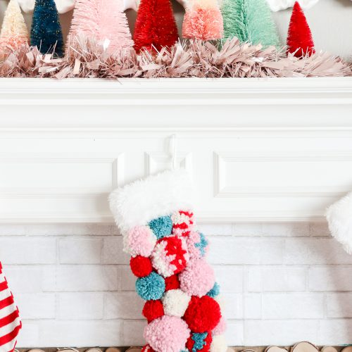 DIY Pom Pom Christmas Stocking