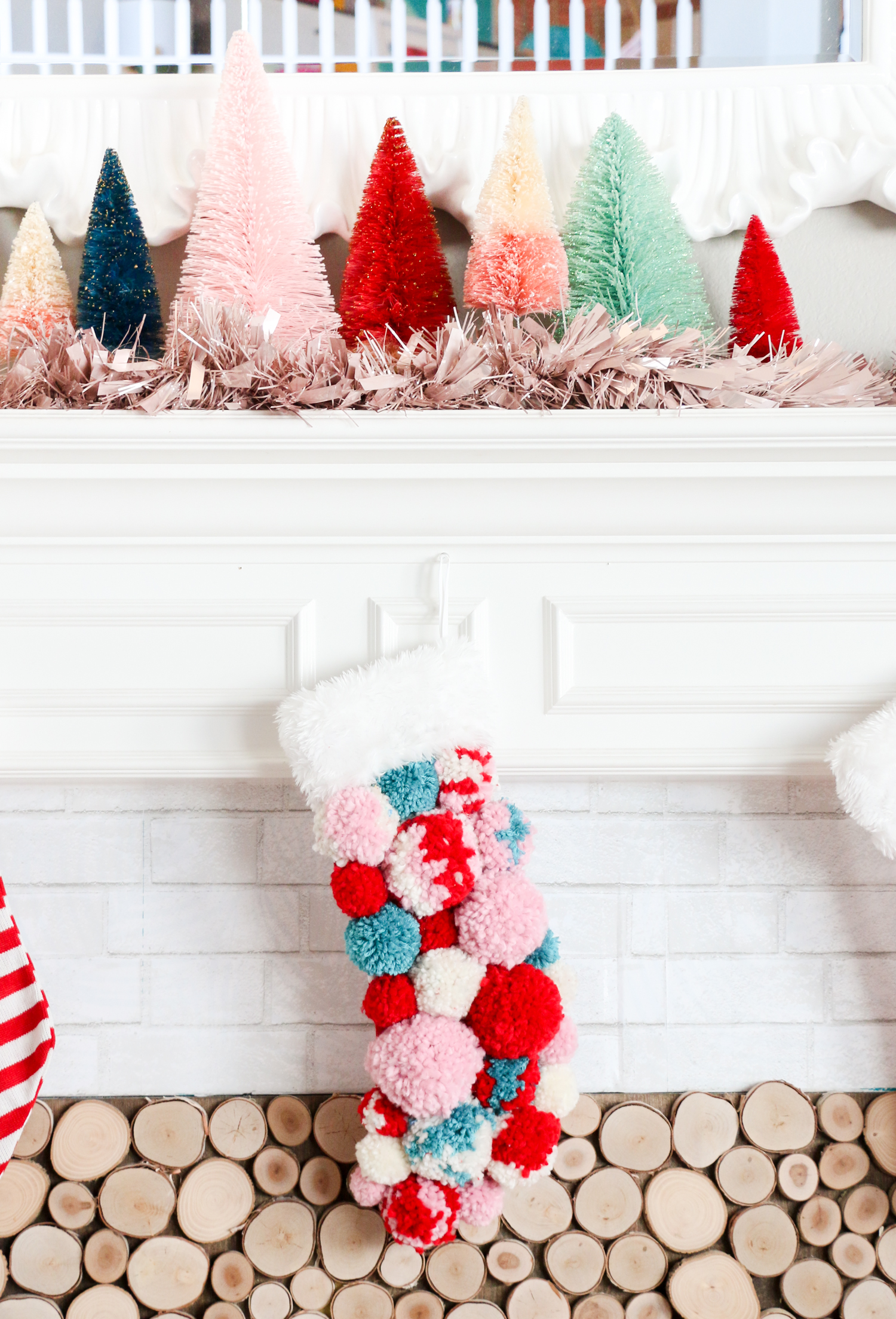 Diy Pom Pom Christmas Stocking A Beautiful Mess