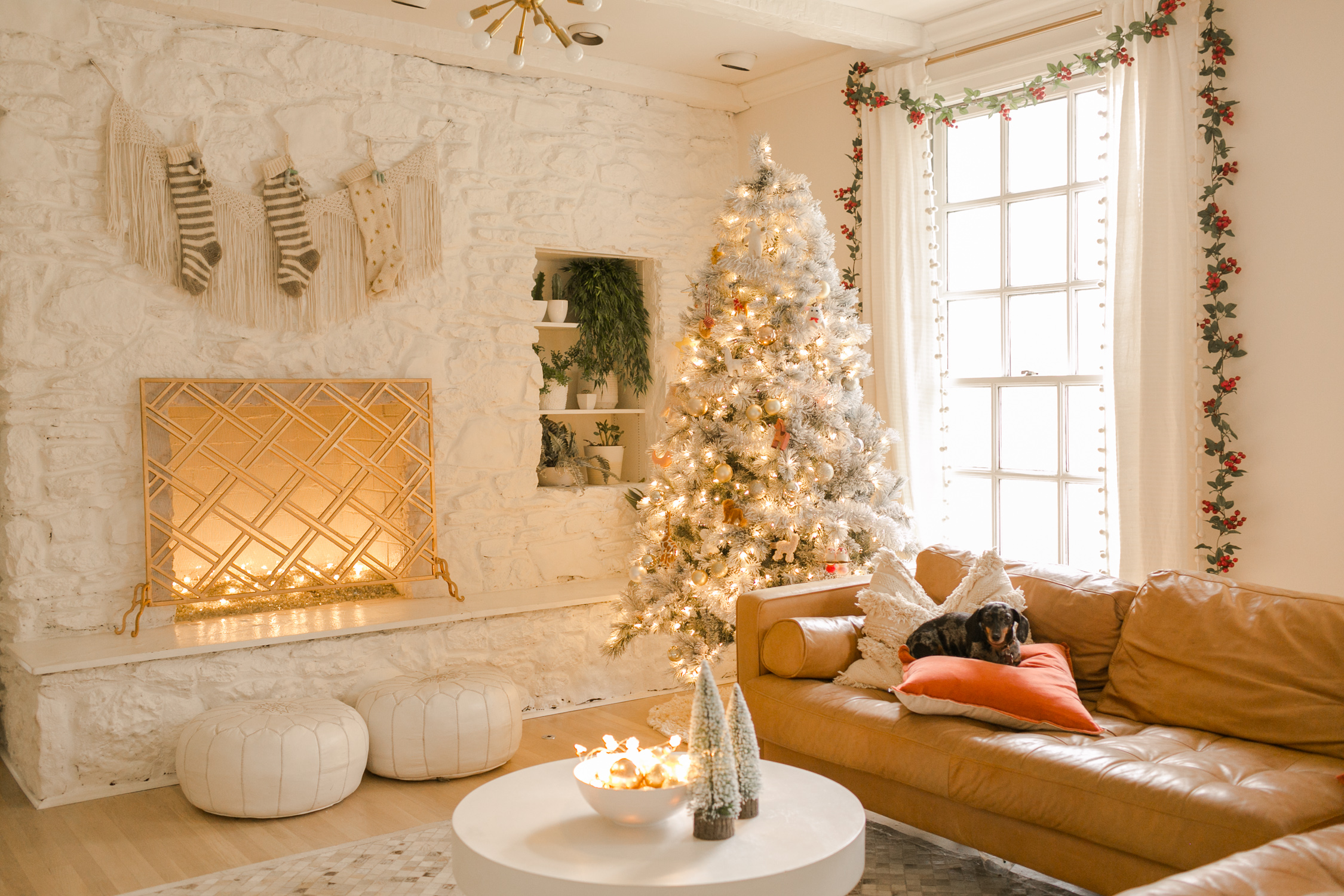 Elsie S Holiday Living Room Tour A Beautiful Mess
