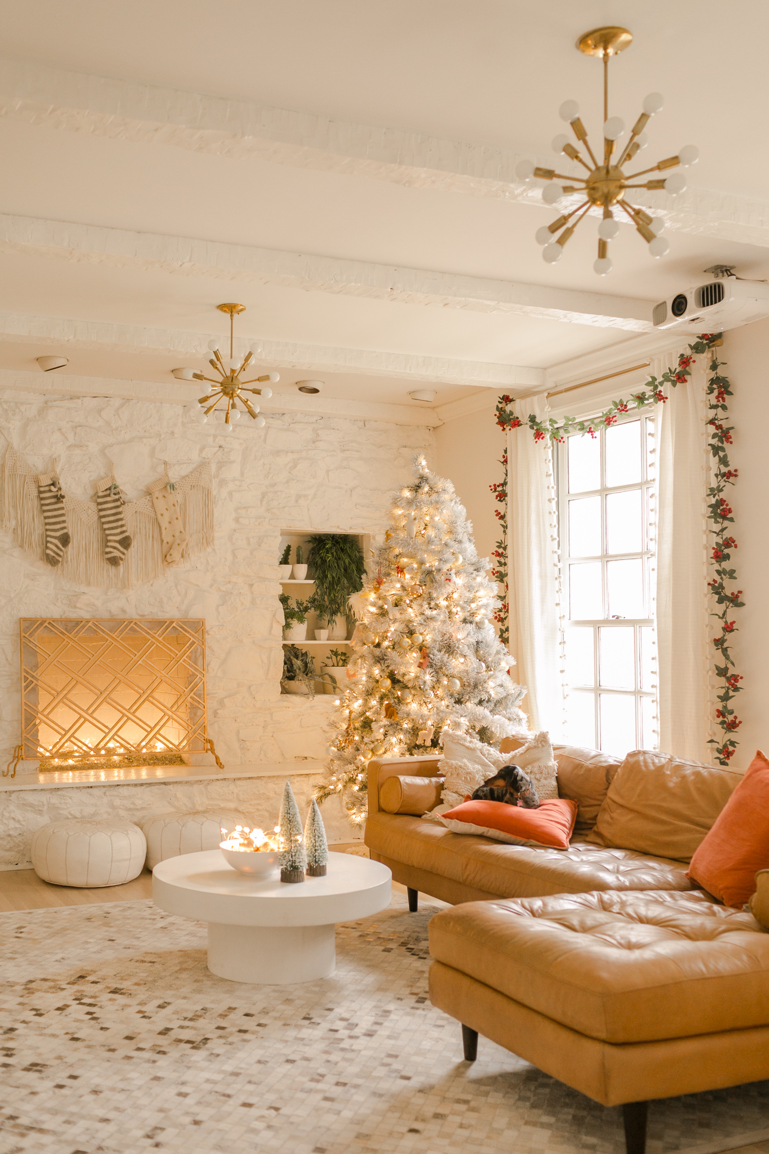 Holiday Living Christmas Tree.Elsie S Holiday Living Room Tour A Beautiful Mess