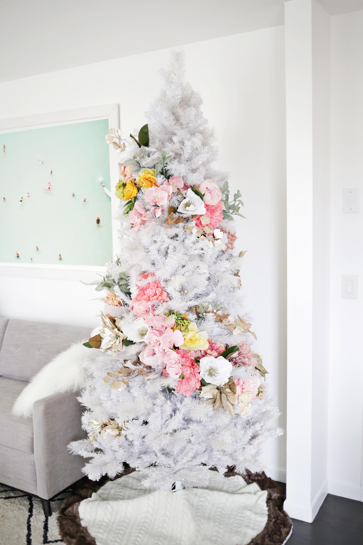 Floral Christmas Tree DIY! - A Beautiful Mess