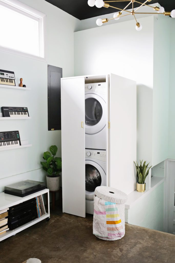 Hidden Washer And Dryer Cabinet A Beautiful Mess