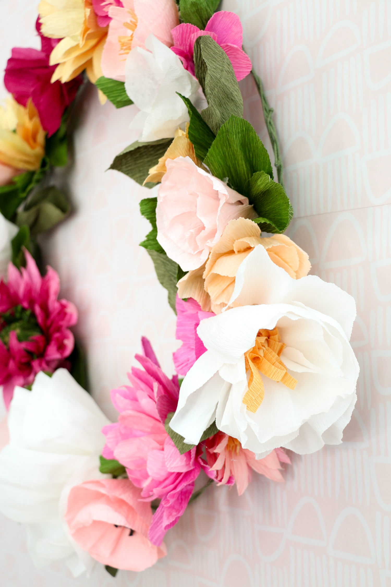 How to Make a Paper Flower Wreath