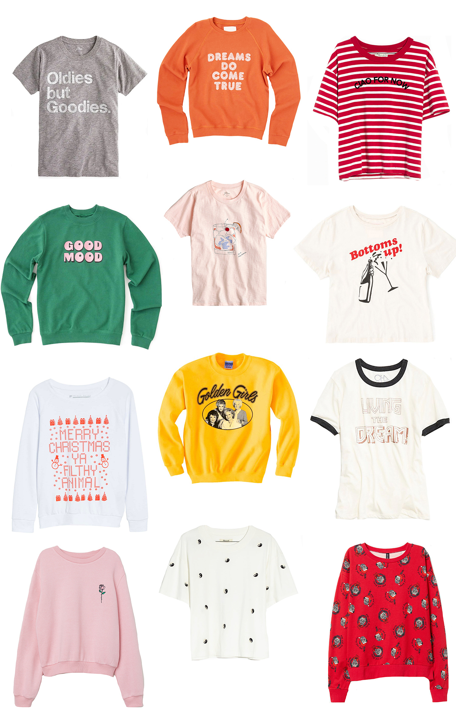 6879aae0ac5e It s hard to resist a cute graphic tee or sweatshirt—especially when the  weather is chilly outside. We did a little window shopping and found some  cuuute ...