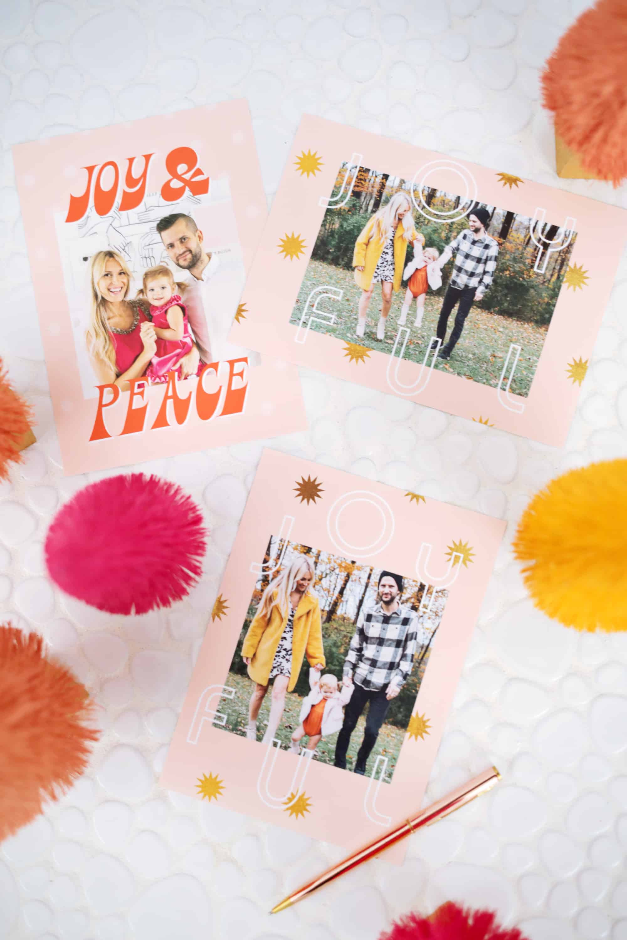 Print Your Own Holiday Cards Free Template Included A