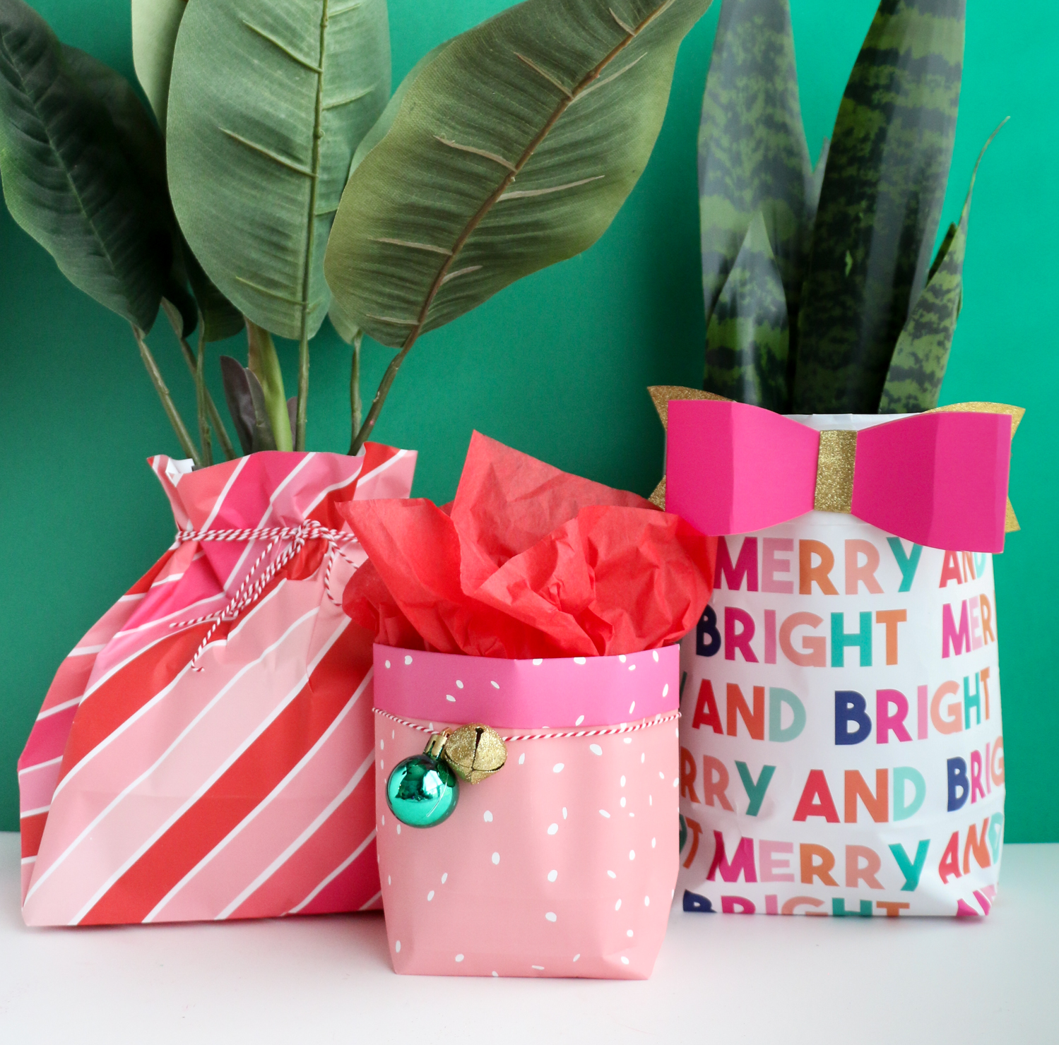 How to make a gift bag out of wrapping paper