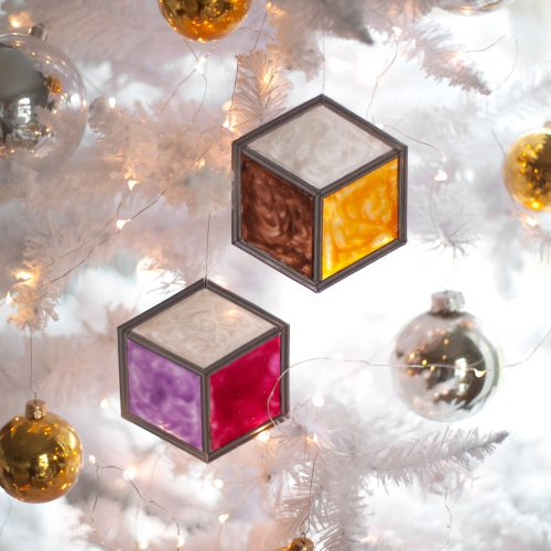 DIY stained glass ornaments