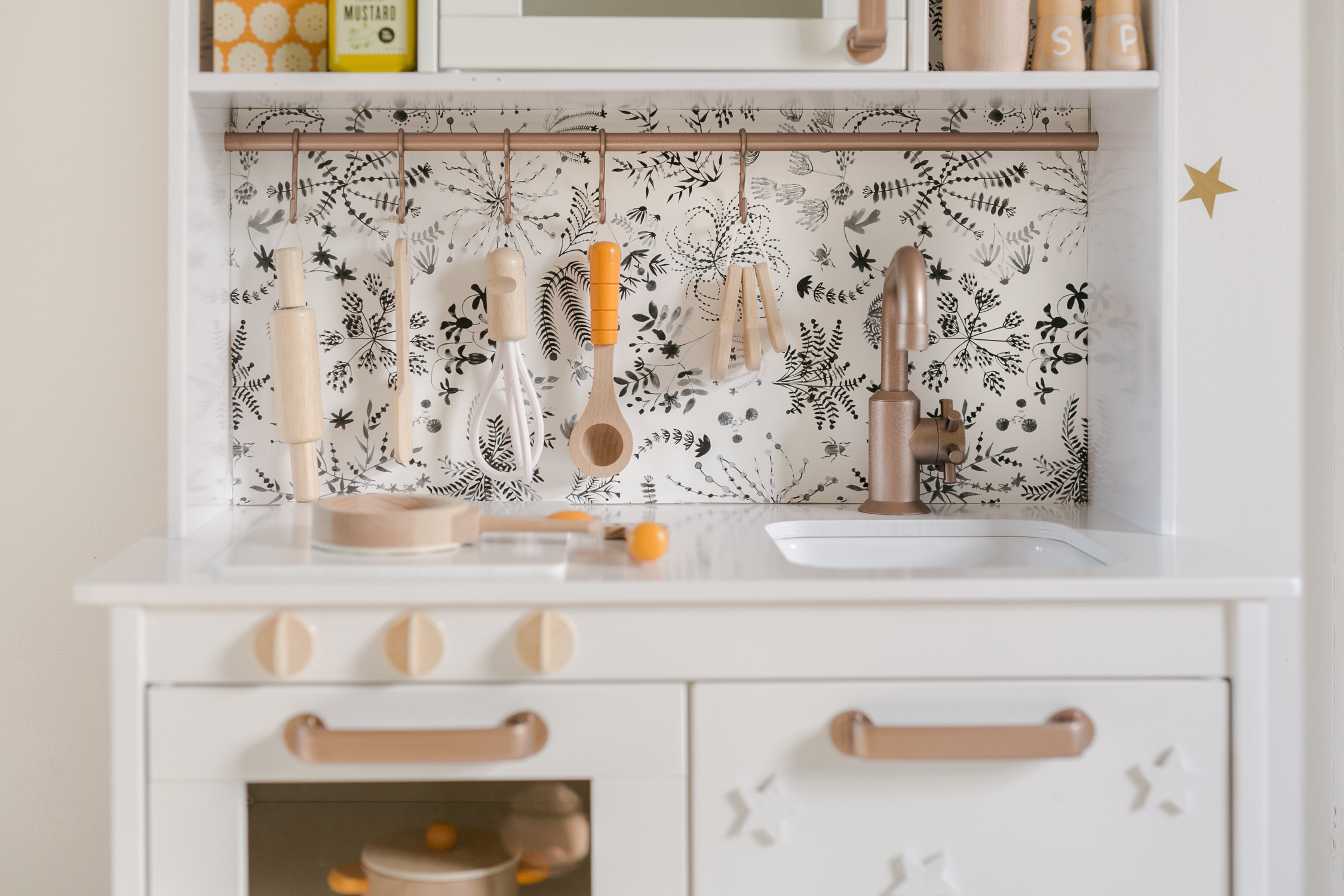 Nova's Play Kitchen (IKEA Hack) - A Beautiful Mess