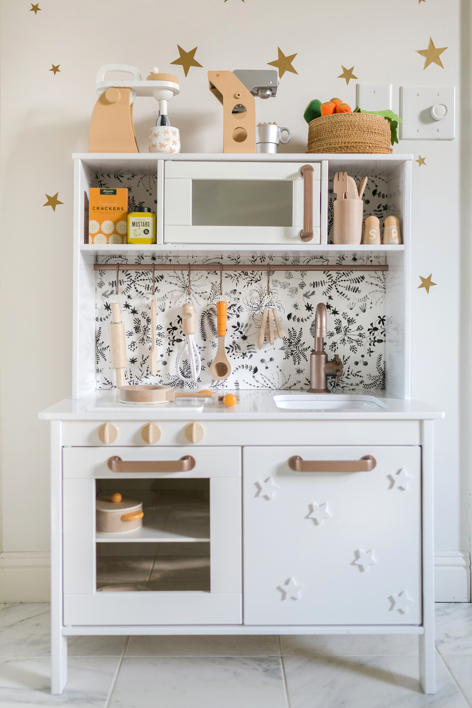 Mid-Century Modern Ikea Play Kitchen Hack! - A Beautiful Mess