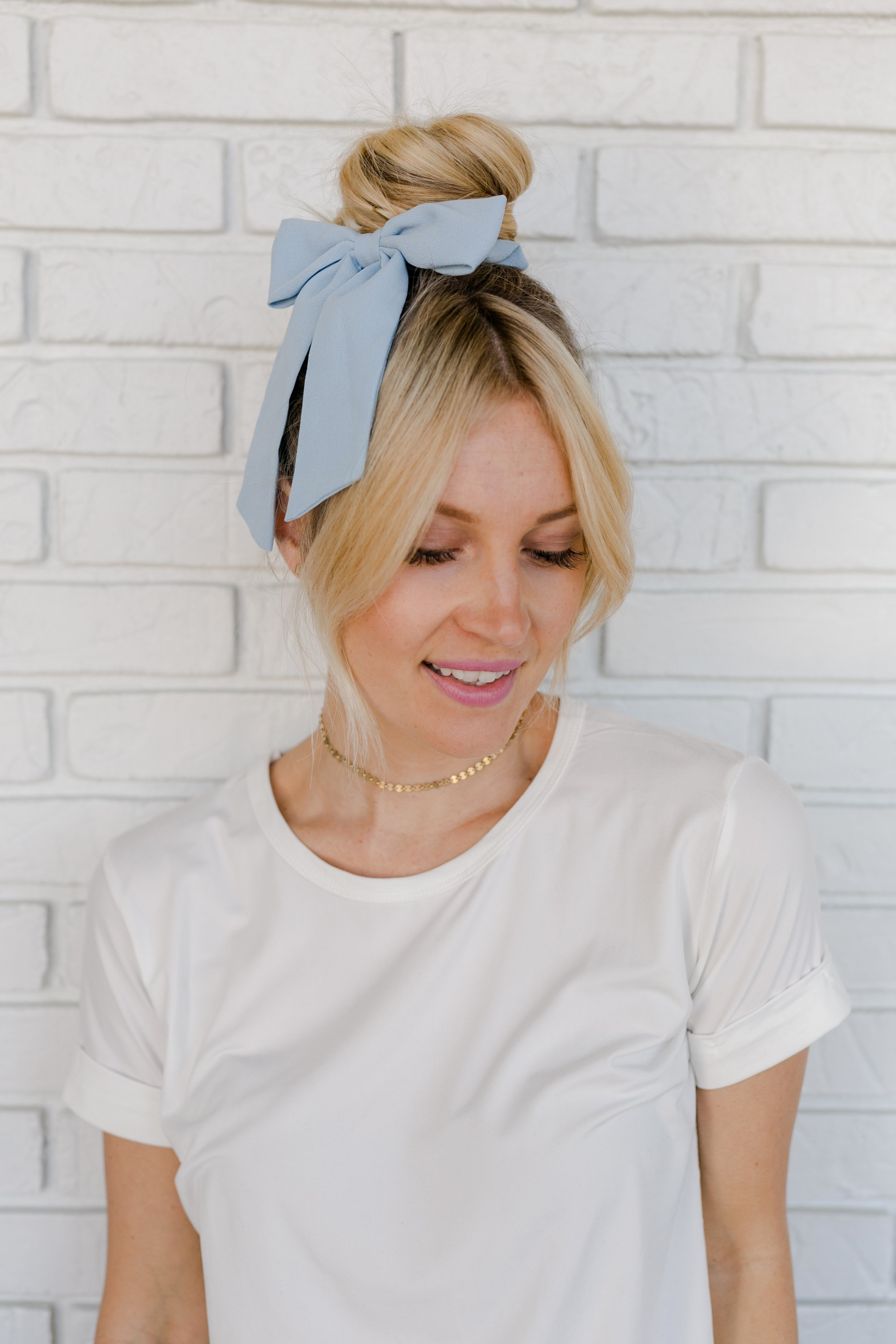 2debabc946b0 ... scrunchie trend that's been showing up over and over in your Pinterest  feed. You can even make your own scrunchie if you want to add some DIY  elements ...