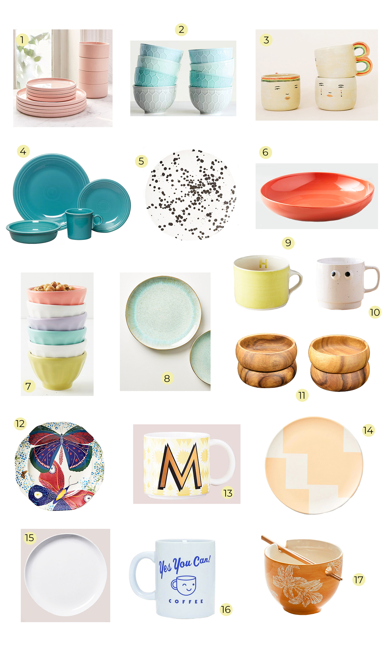 Our Favorite Dinnerware: Plates, Bowls, & Mugs!