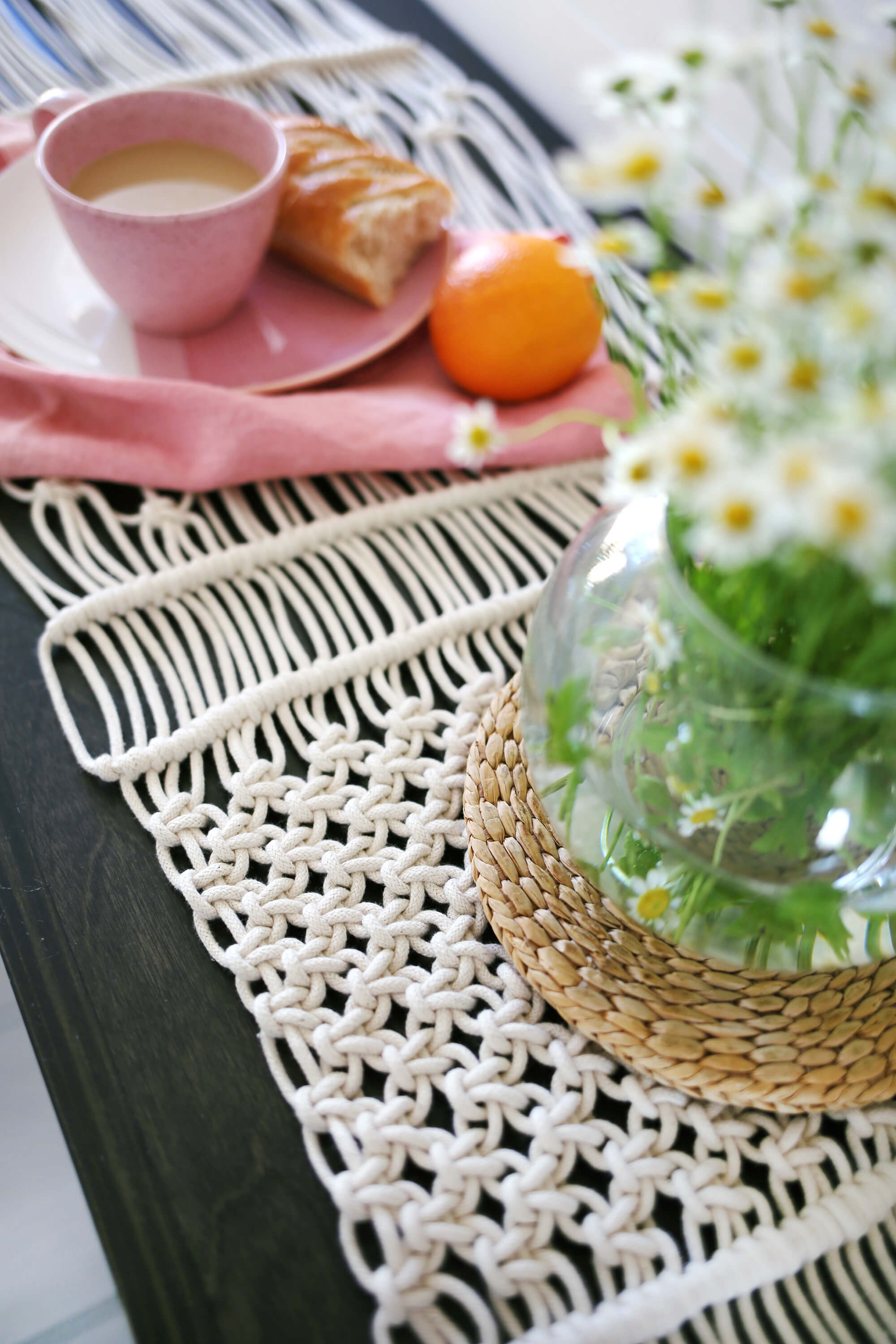 Simple Macrame Table Runner DIY