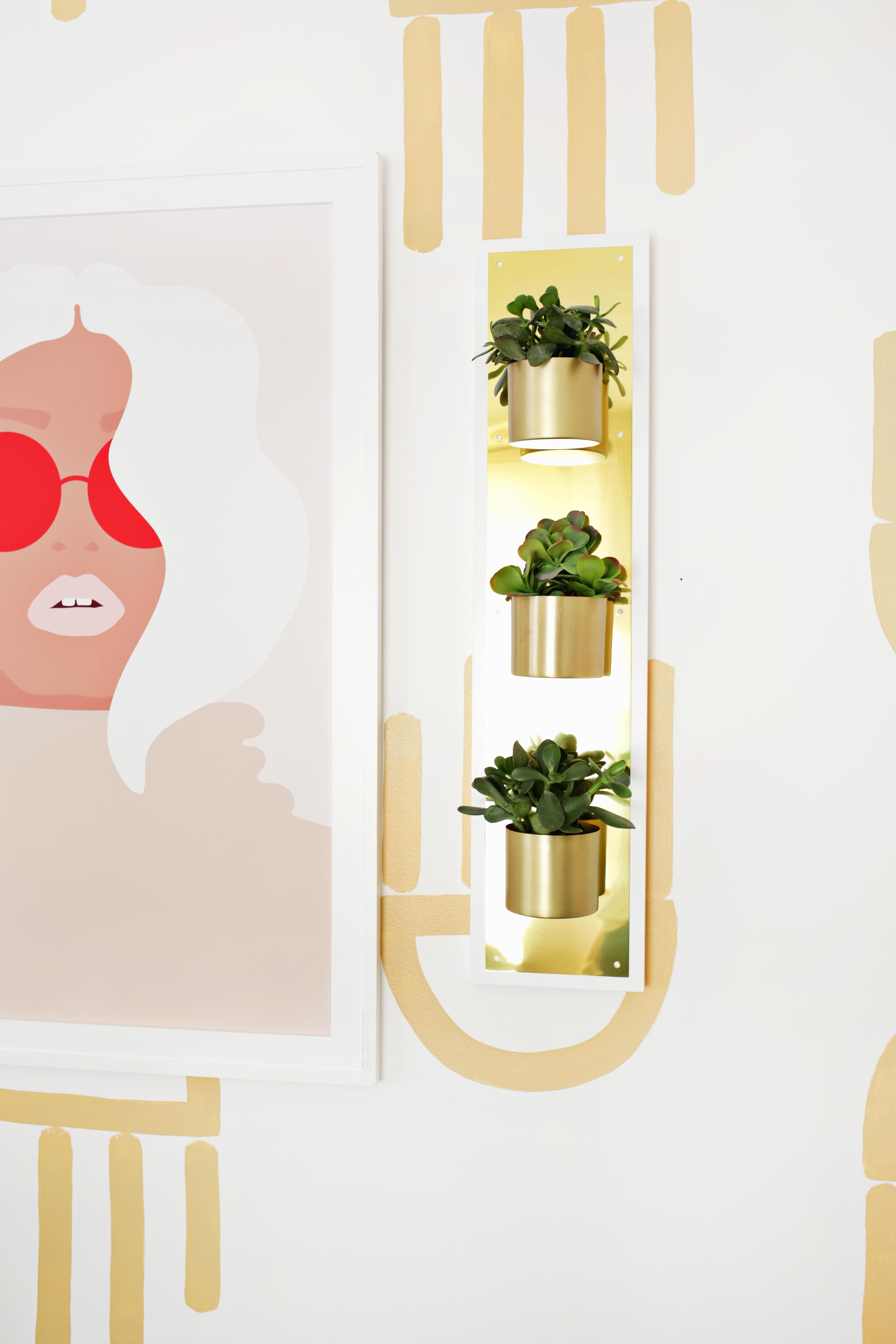 Brass Plate Wall Planter DIY