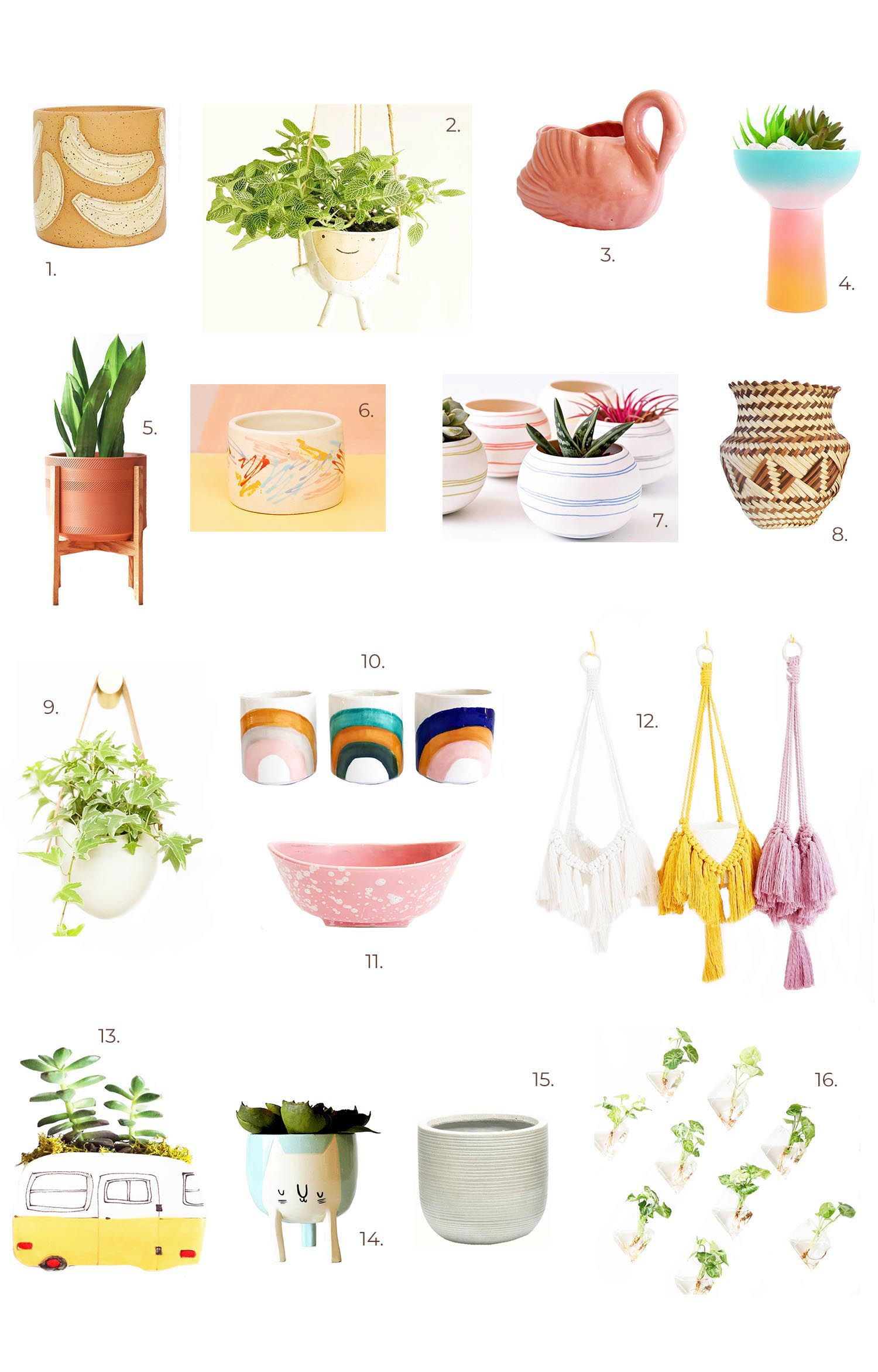 Our Favorite Planters on Etsy!