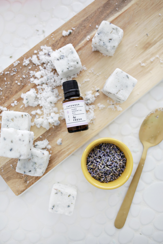 Lavender Sugar Cube Scrub DIY
