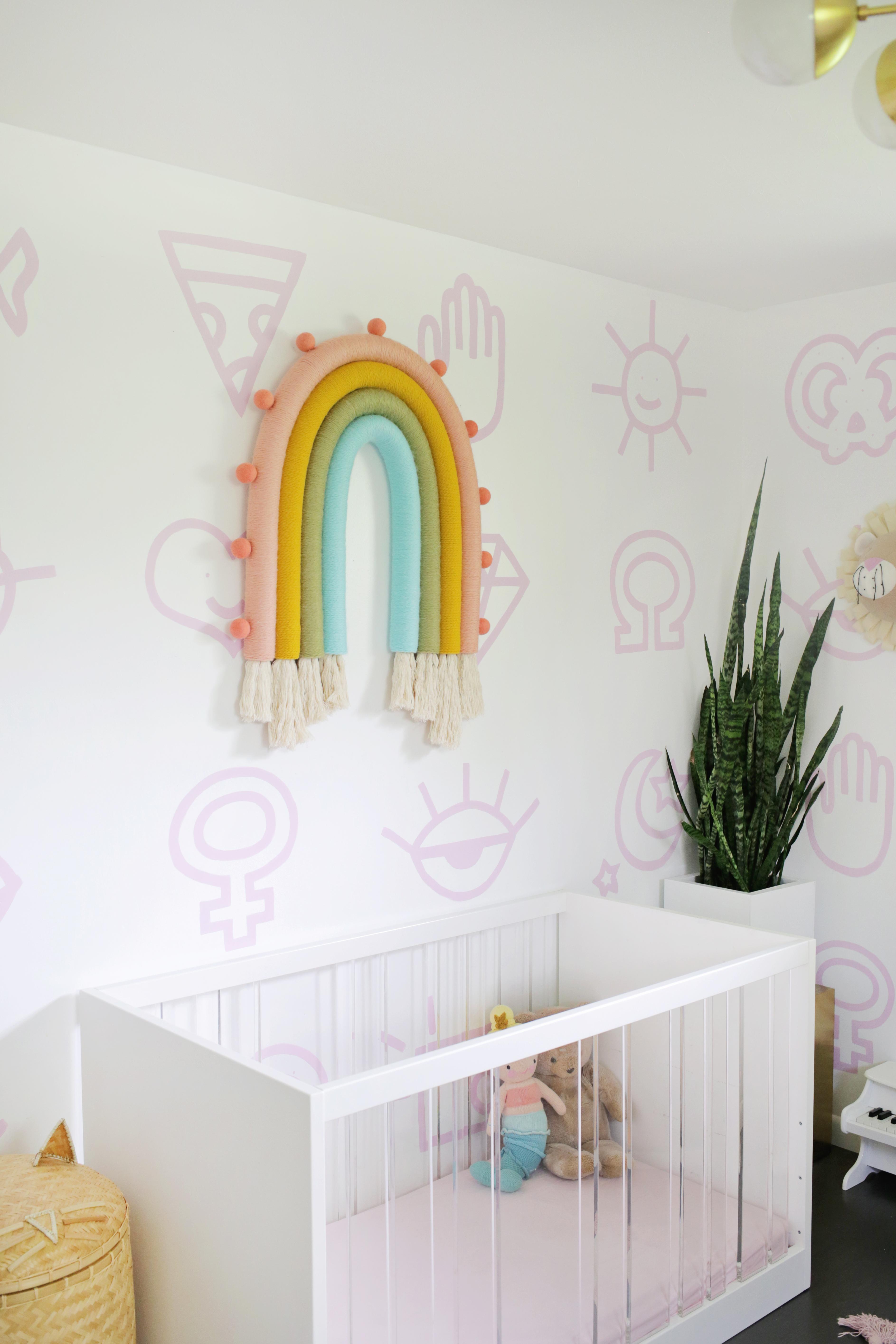 Oversized Rainbow Wall Hanging DIY!