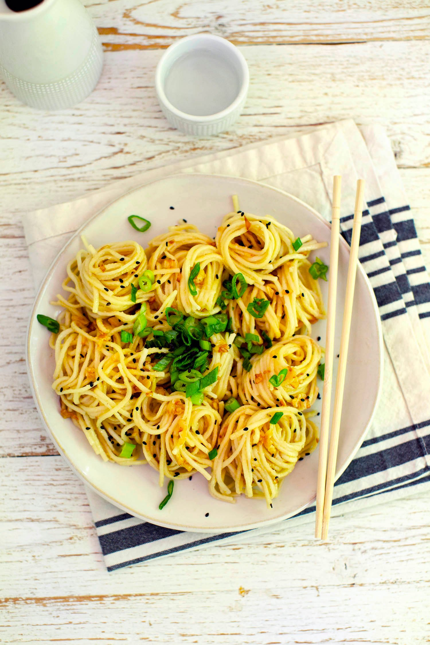 Miso and Garlic Butter Noodles