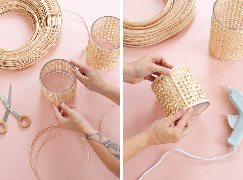 Caned Candledholder DIY