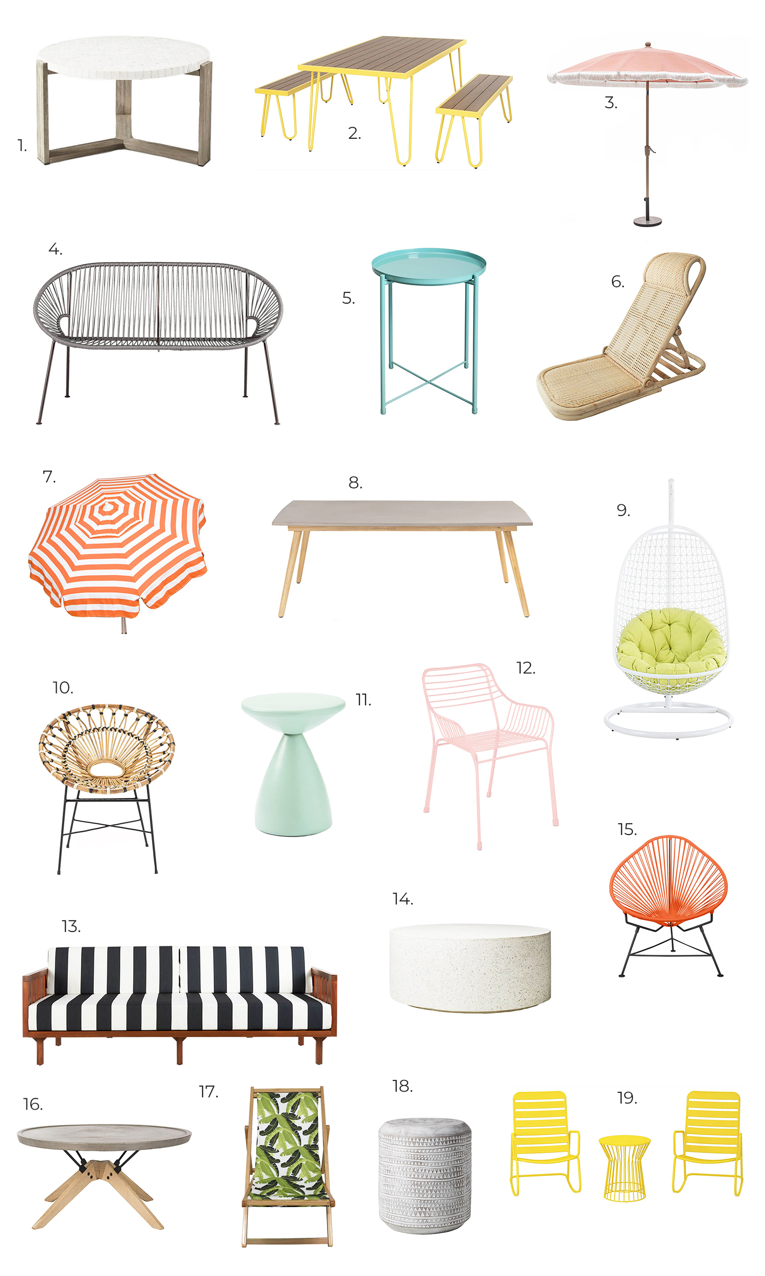 A Beautiful Mess Outdoor Furniture Wishlist