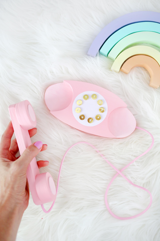 Wooden Play Phone DIY - A Beautiful Mess