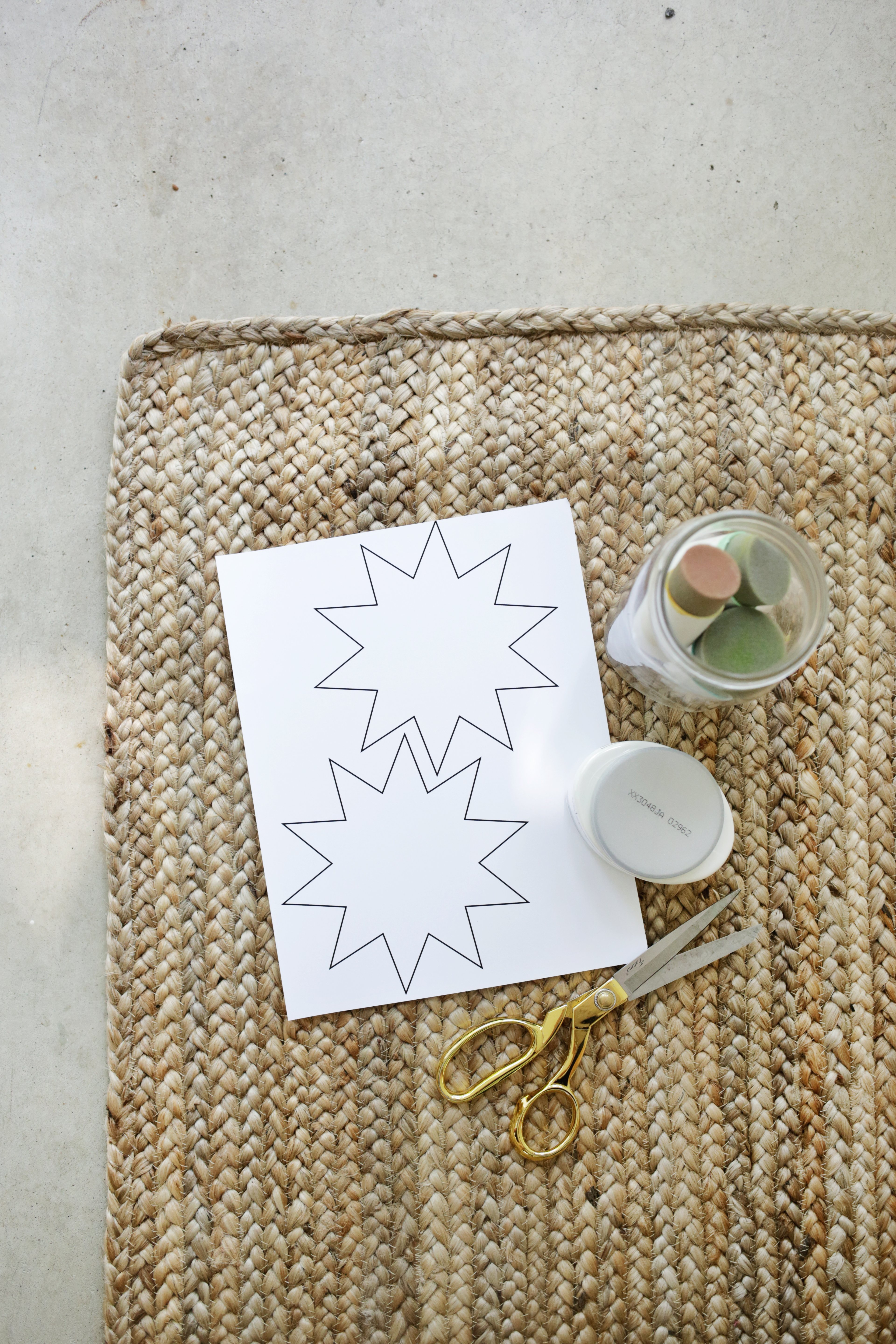 Easy Stenciled Outdoor Rug A Beautiful Mess
