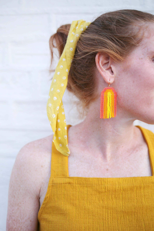 Rainbow Seed Bead Earrings DIY