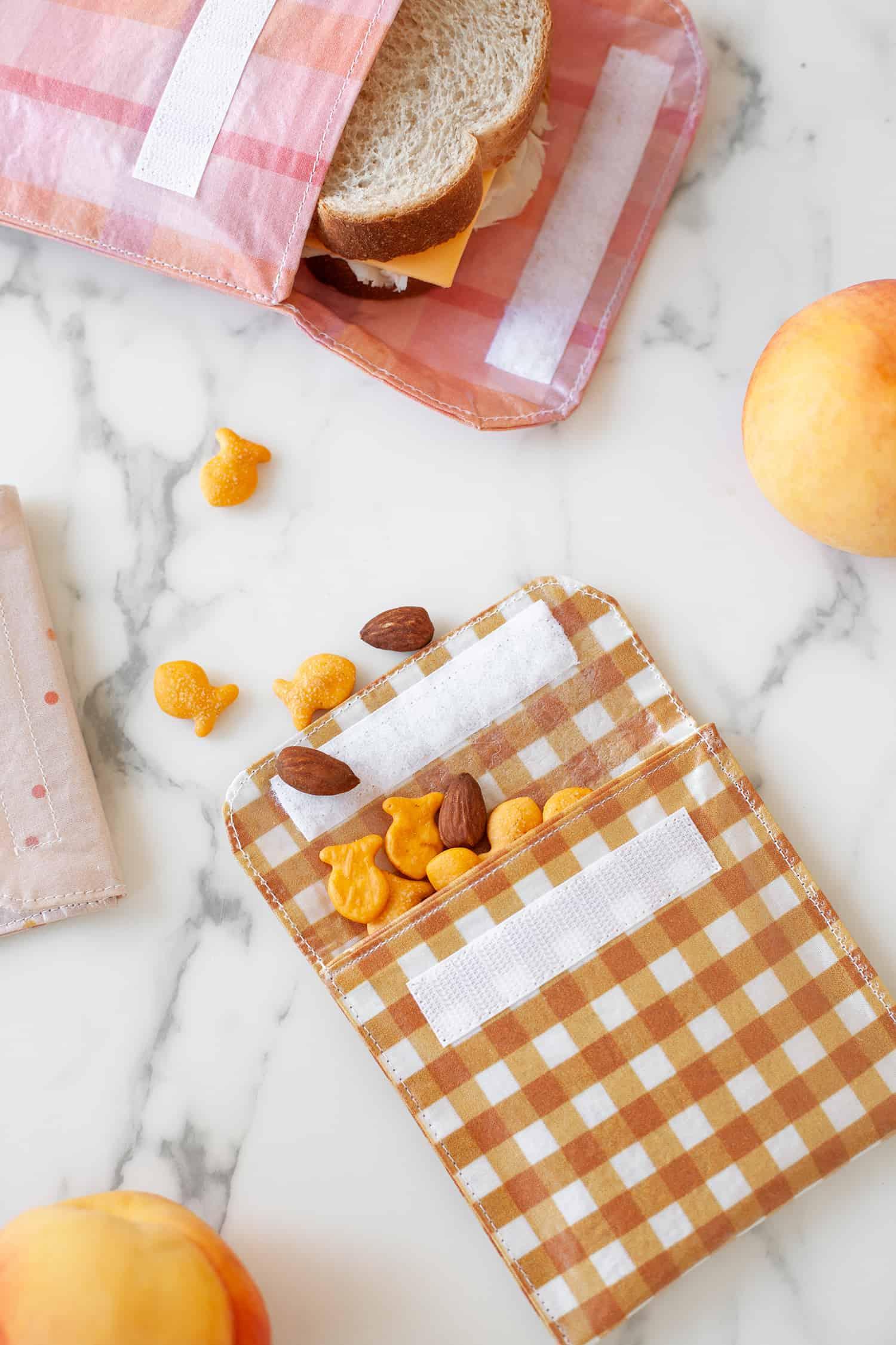 reusable fabric sandwich bags