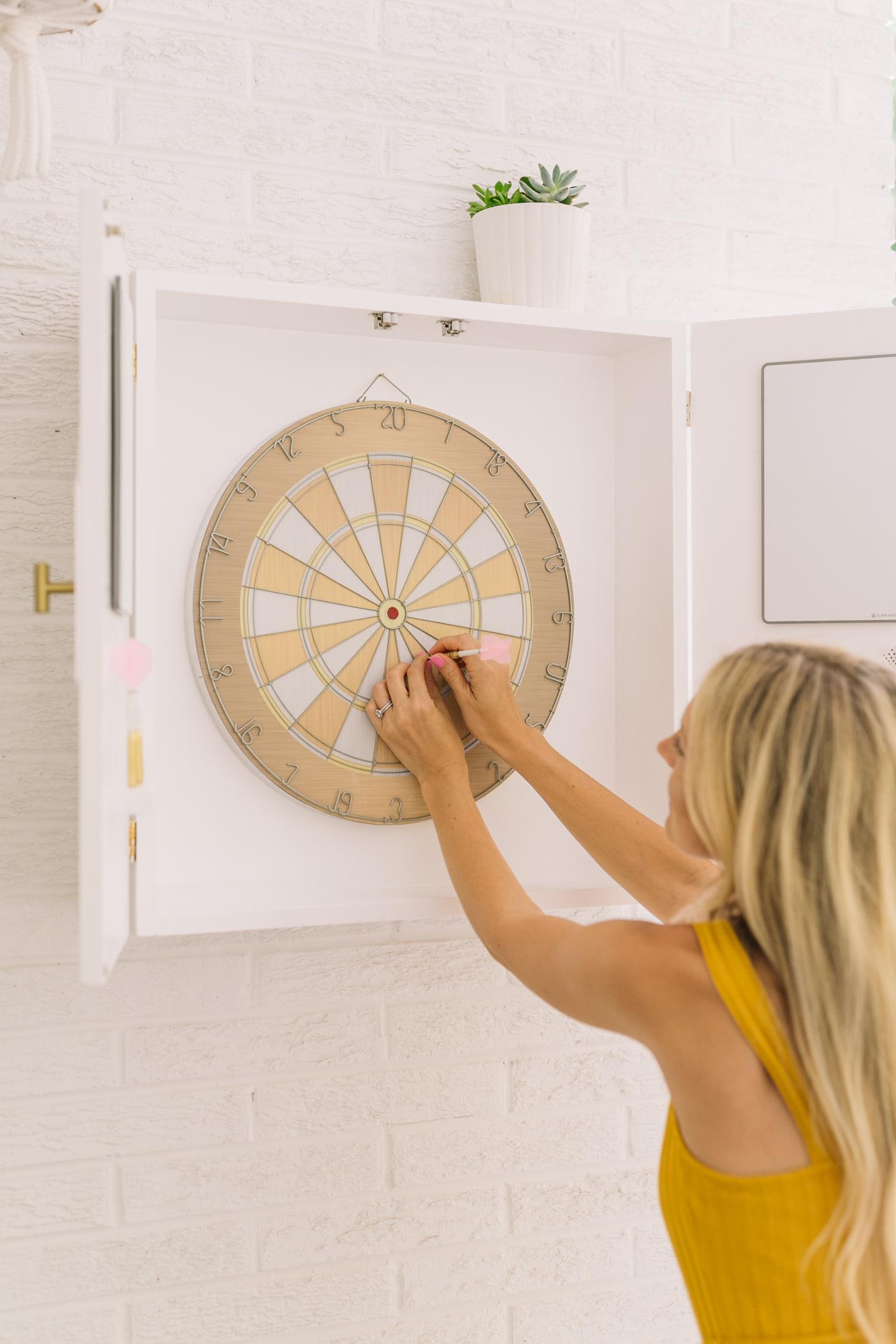 Modern Dartboard Cabinet Diy A