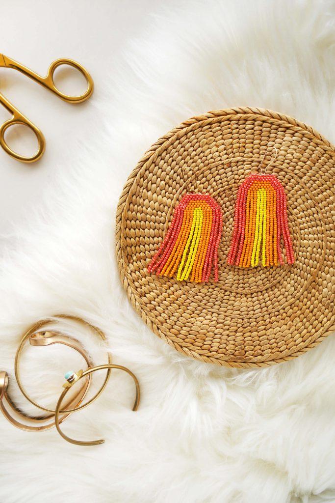 Rainbow Seed Bead Earrings Diy A Beautiful Mess