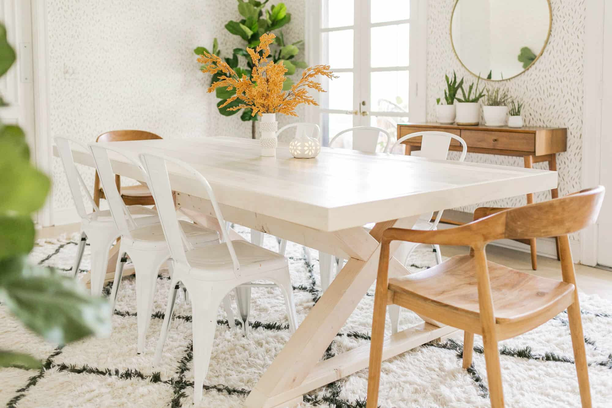 Modern Farmhouse Table Diy A Beautiful Mess
