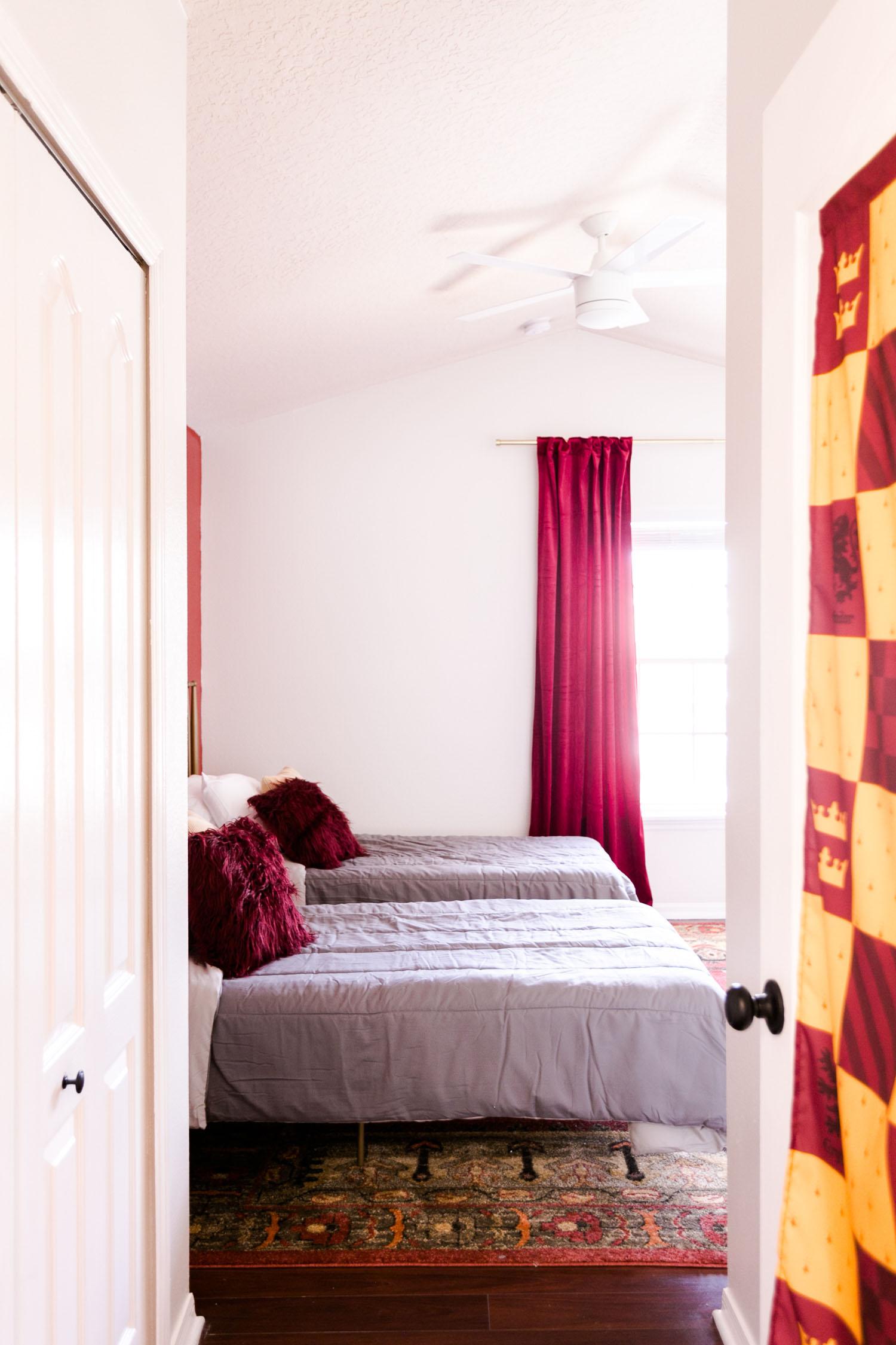 Gryffindor-Inspired Bedroom