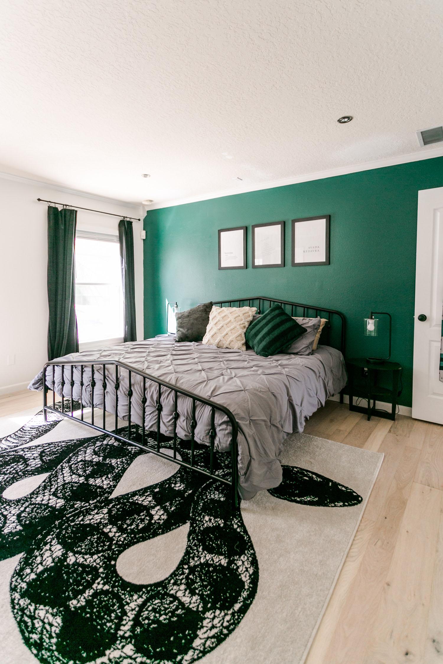 Slytherin-Inspired Bedroom