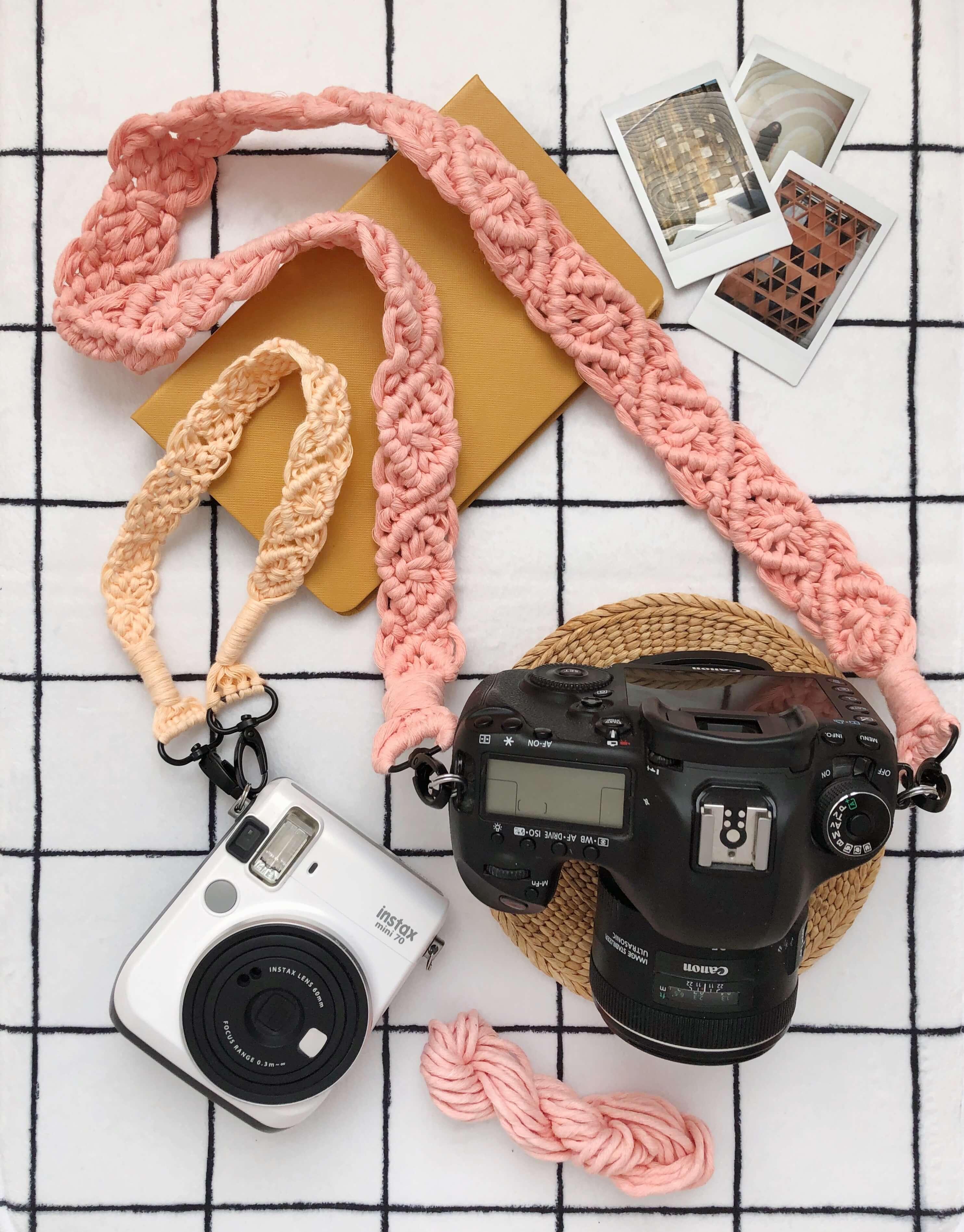 Simple Macrame Camera Strap Tutorial